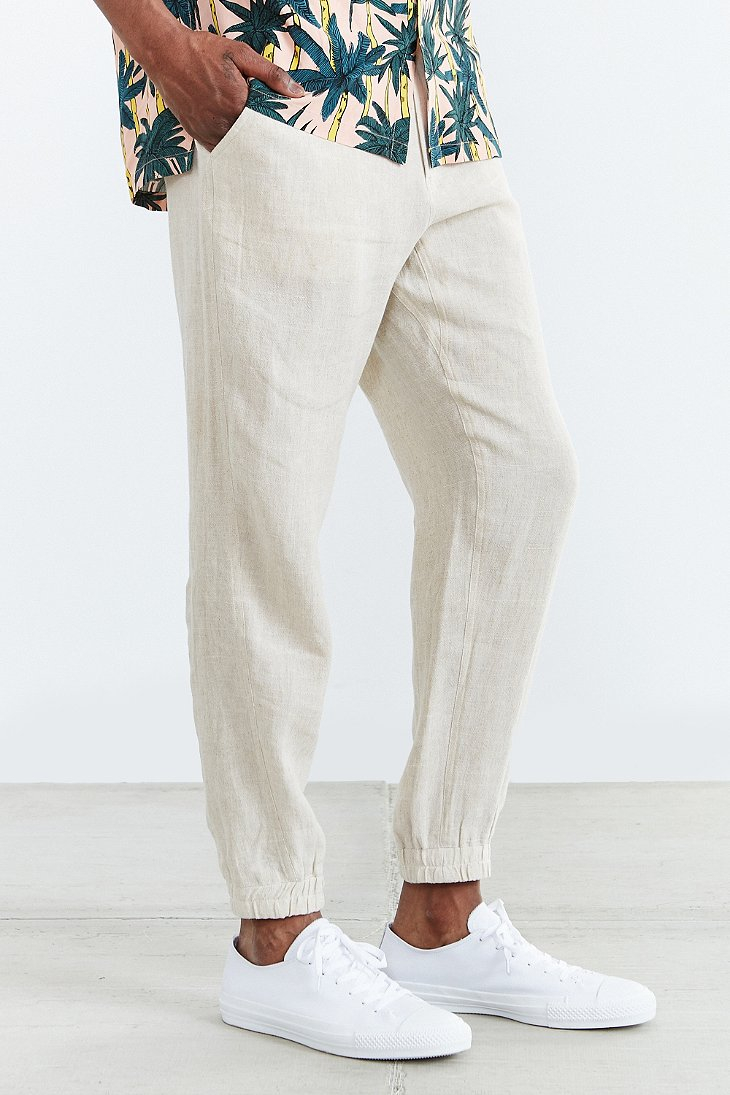 Shades Of Grey By Micah Cohen Linen Jogger Pant In Gray