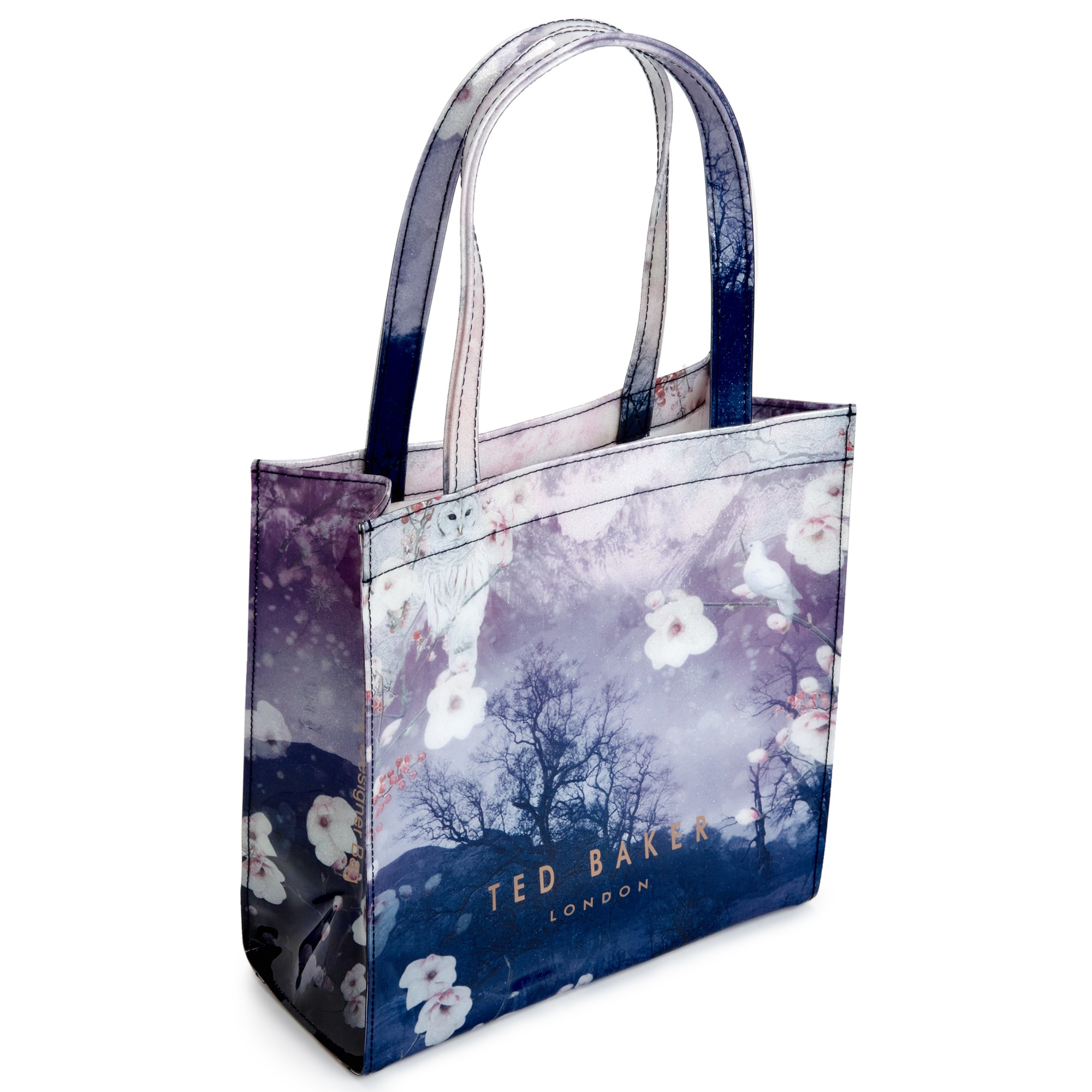 lyst ted baker lilacon small icon shopper bag in blue. Black Bedroom Furniture Sets. Home Design Ideas