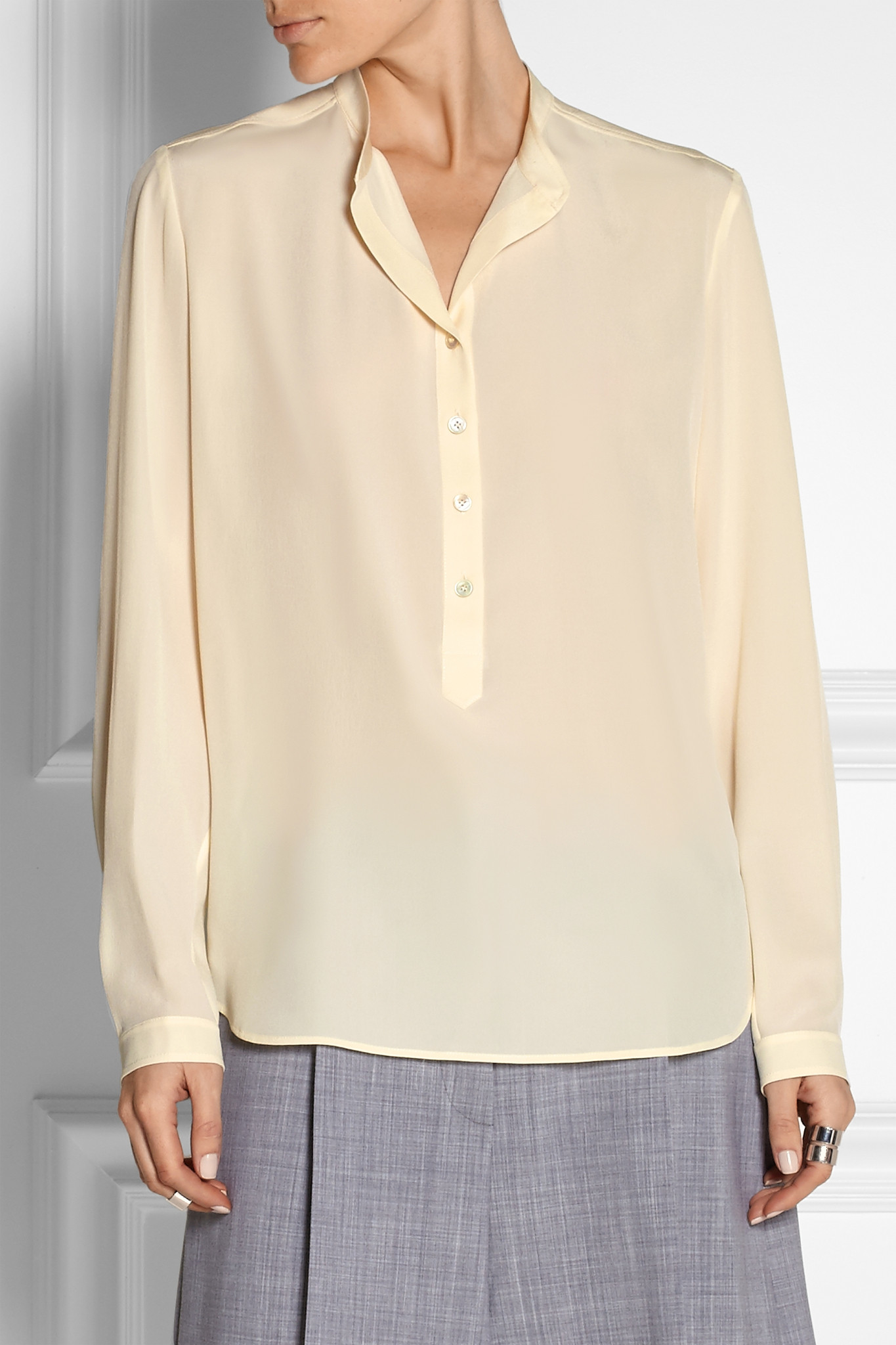 Stella McCartney Eva crepe shirt Footlocker Pictures Cheap Price In China Cheap Online Cm50PVtqu