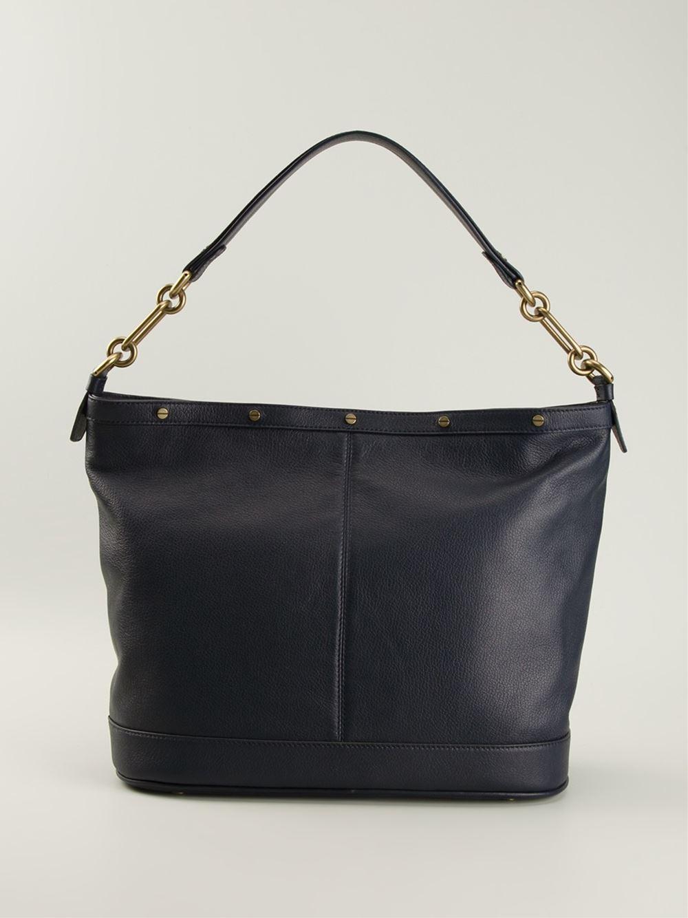 Borbonese Patchwork Design Tote Bag in Blue