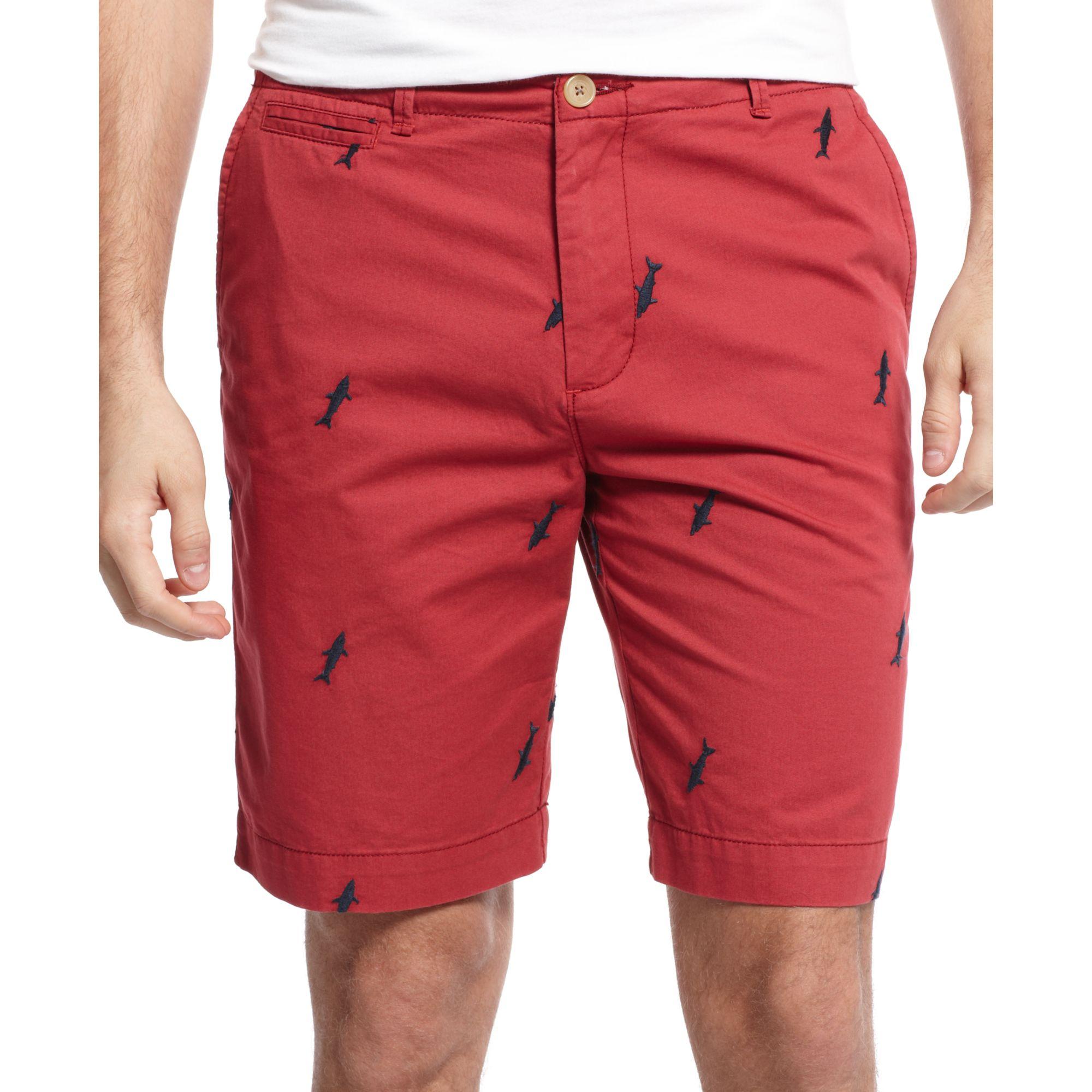 tommy hilfiger shark critter shorts in red for men lyst. Black Bedroom Furniture Sets. Home Design Ideas