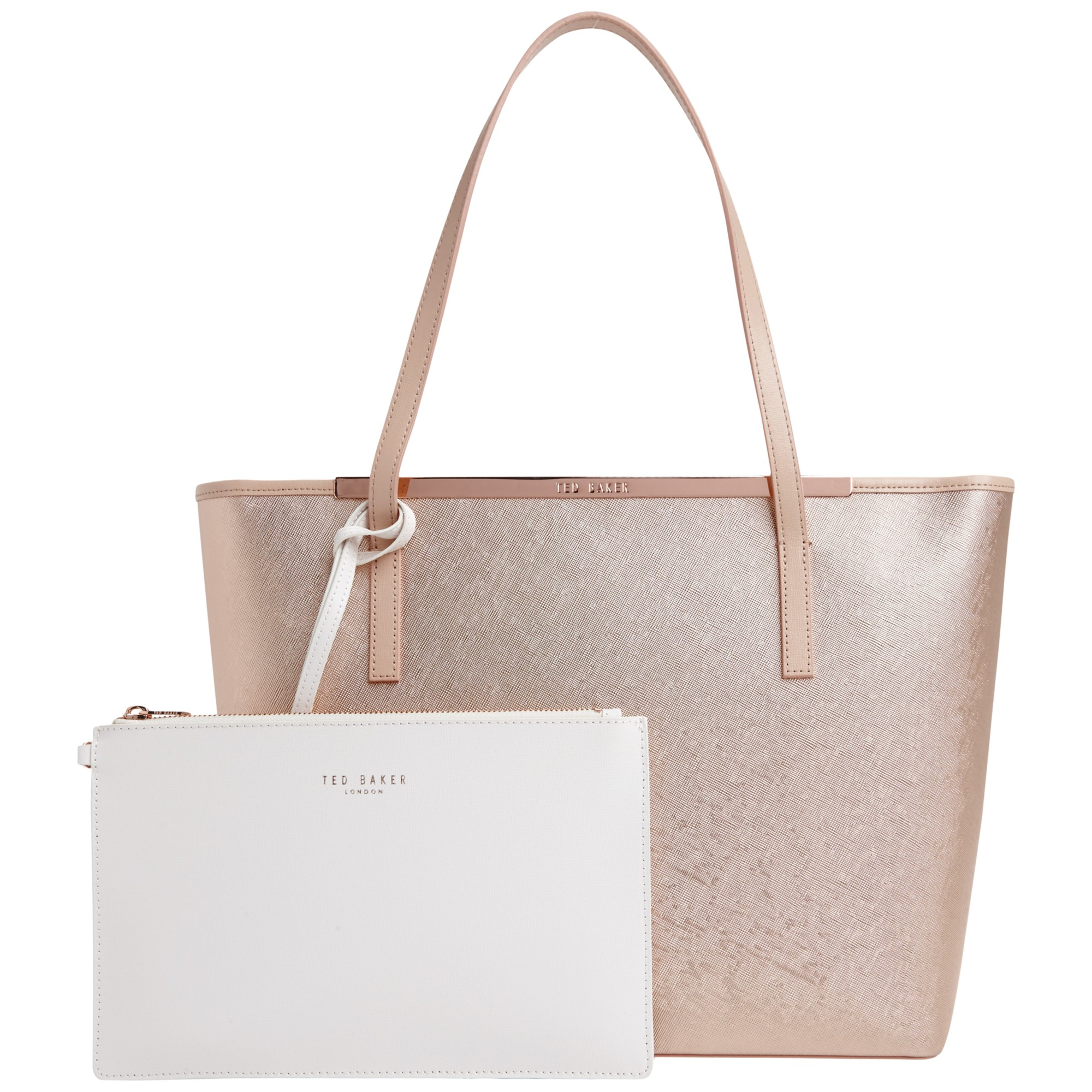 Ted baker Lolana Metallic Block Large Leather Shopper Bag ...