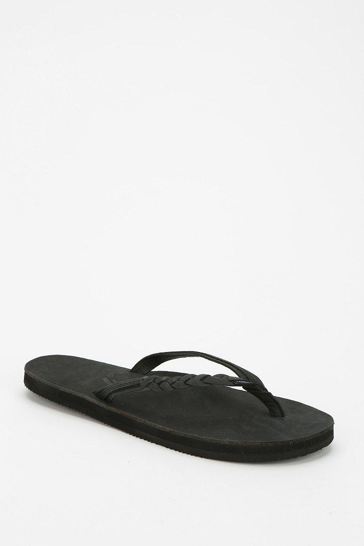 5dee98ca2ea3 Lyst - Rainbow Sandals Braided Thong Sandal in Black