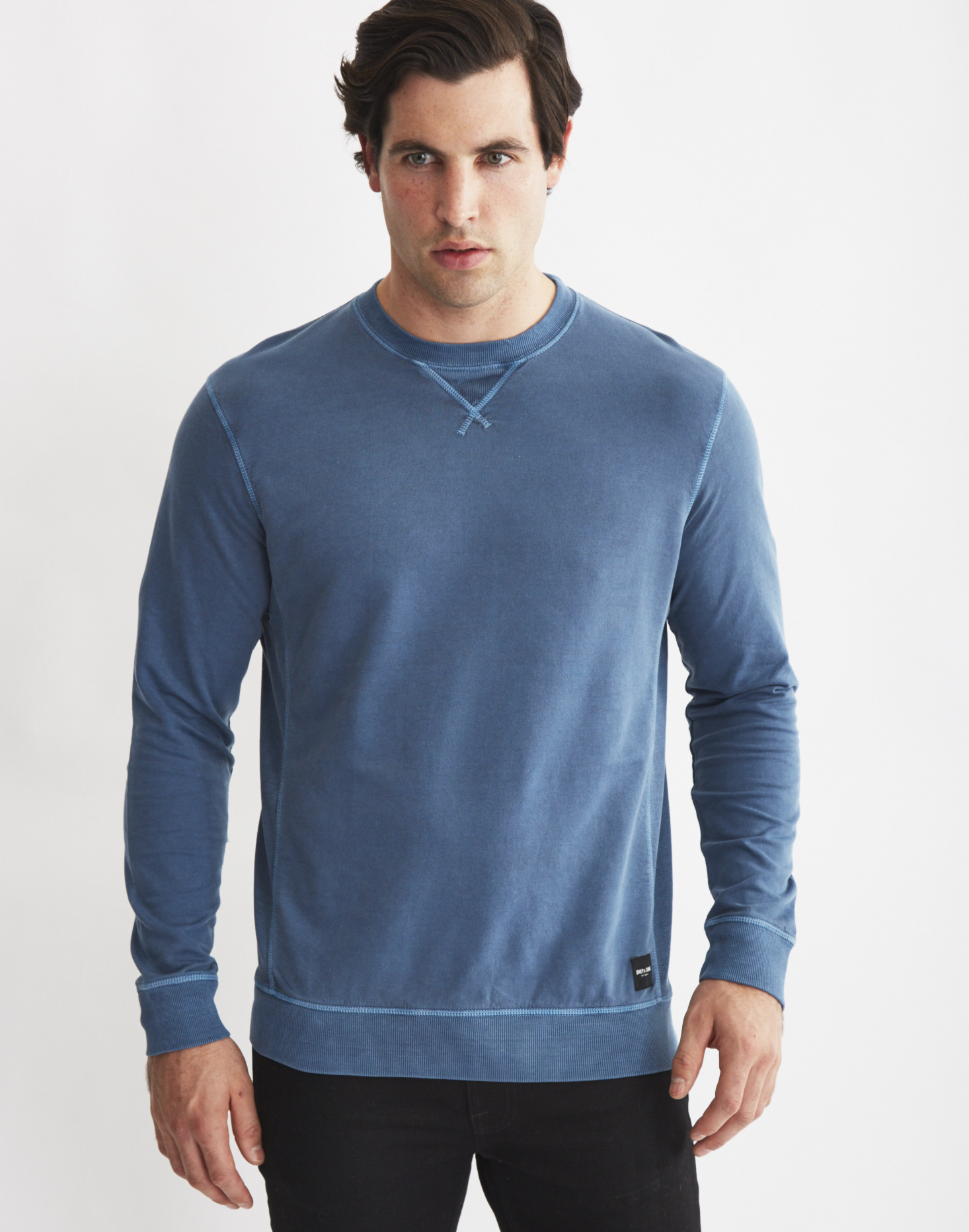 57181f32d9f7 Lyst - Only   Sons Mens Crew Neck Sweatshirt With Eyelet Detail Blue ...