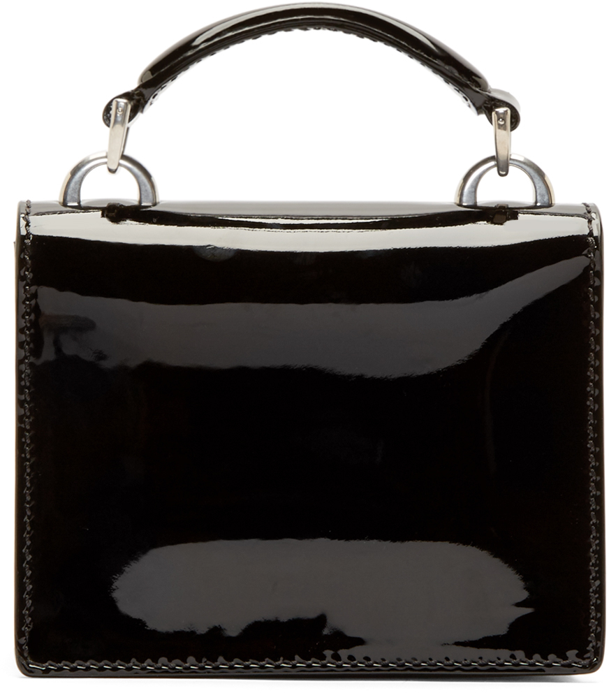 Marc jacobs Black Patent Leather Mini Mischief Shoulder Bag in ...