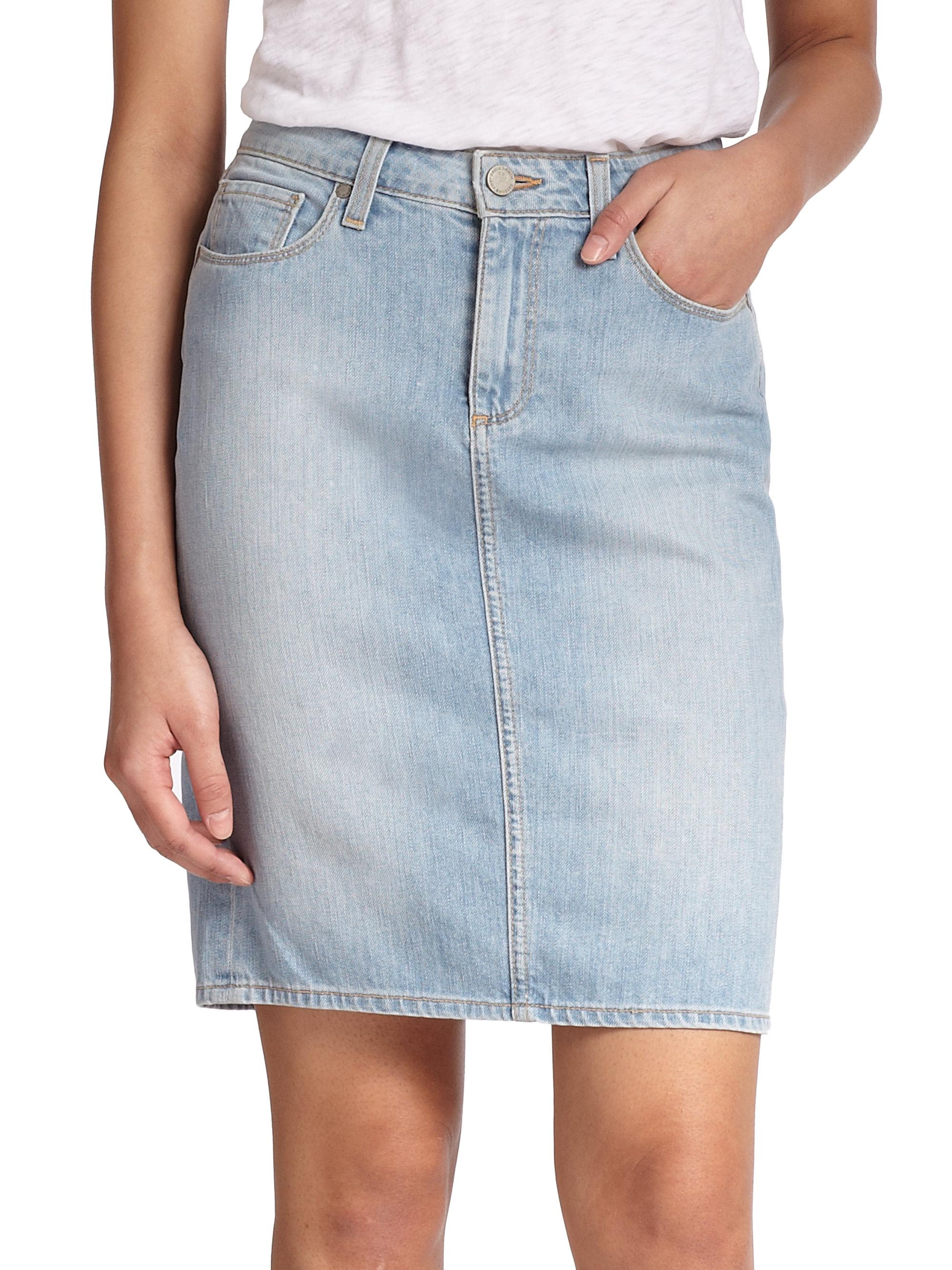deirdre cotton denim skirt in blue lyst