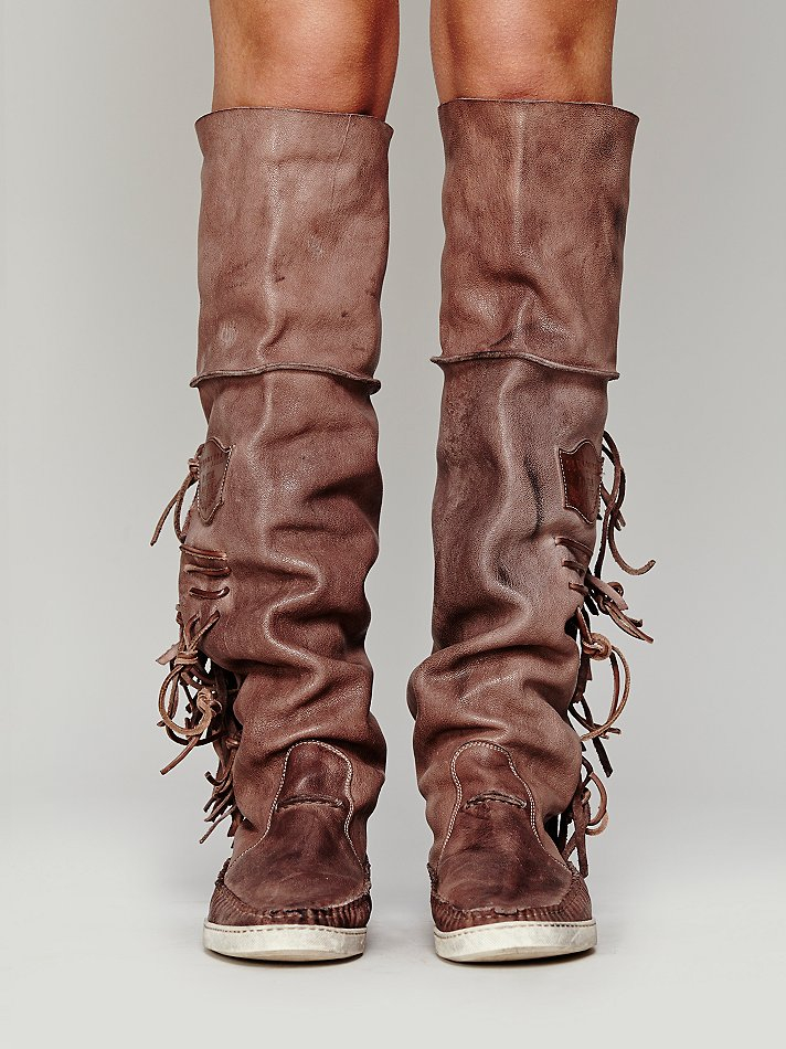 Free People Valerio Giuntoli Womens Drifter Mocc Boot in Brown