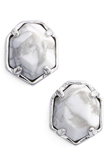 Lyst Kendra Scott Logan Stud Earrings In Metallic