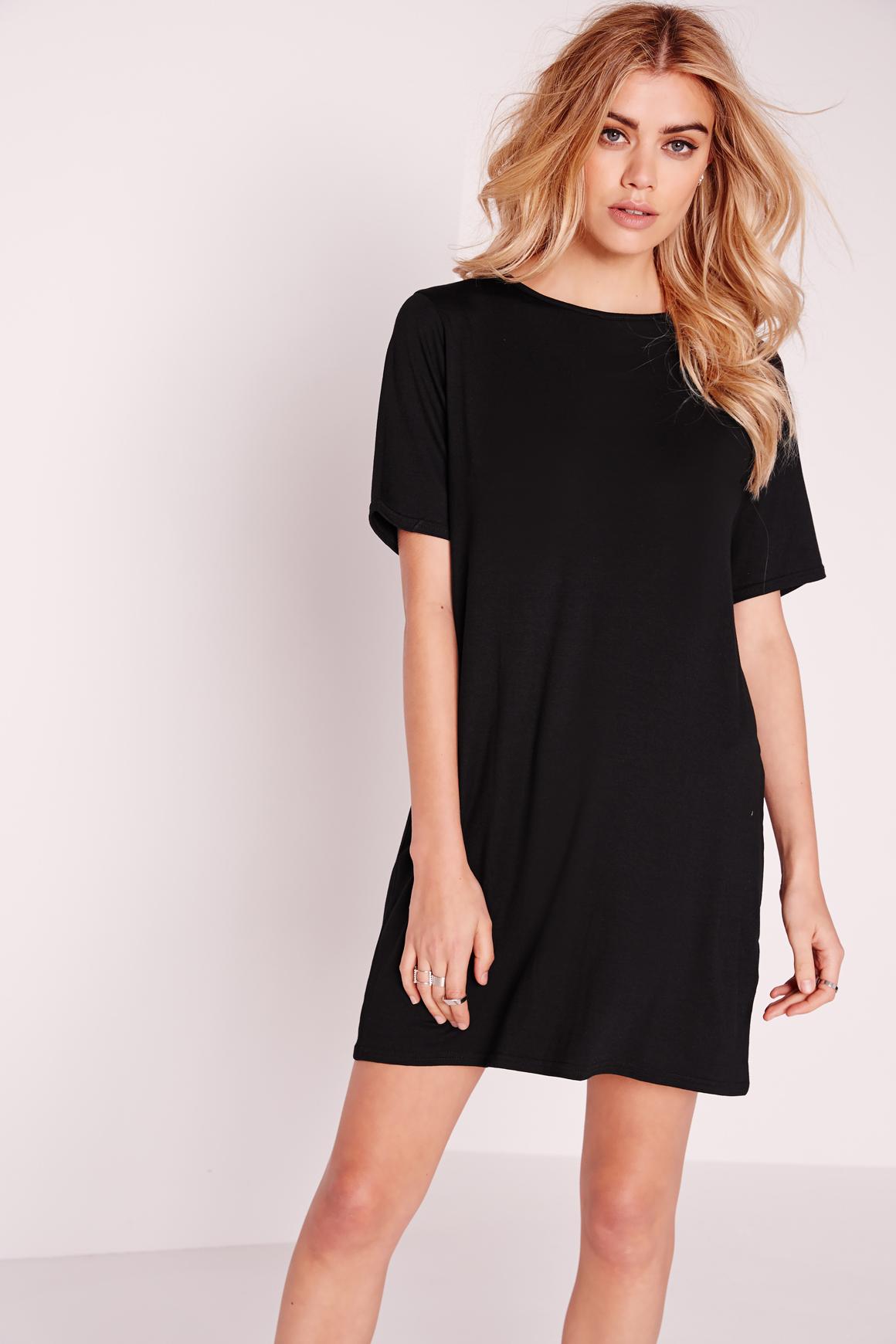 Black t shirt jersey dress - Gallery Women S T Shirt Dresses