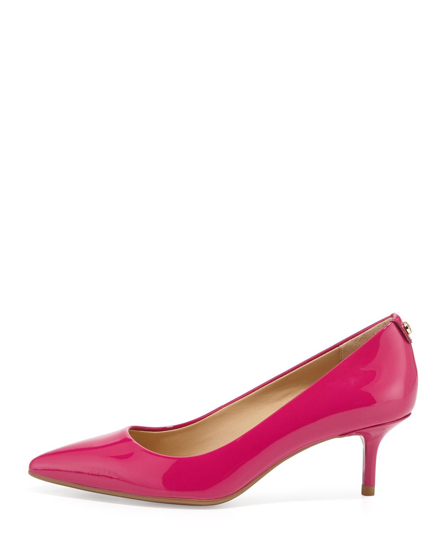 Fuschia Pink Mid Heel Shoes