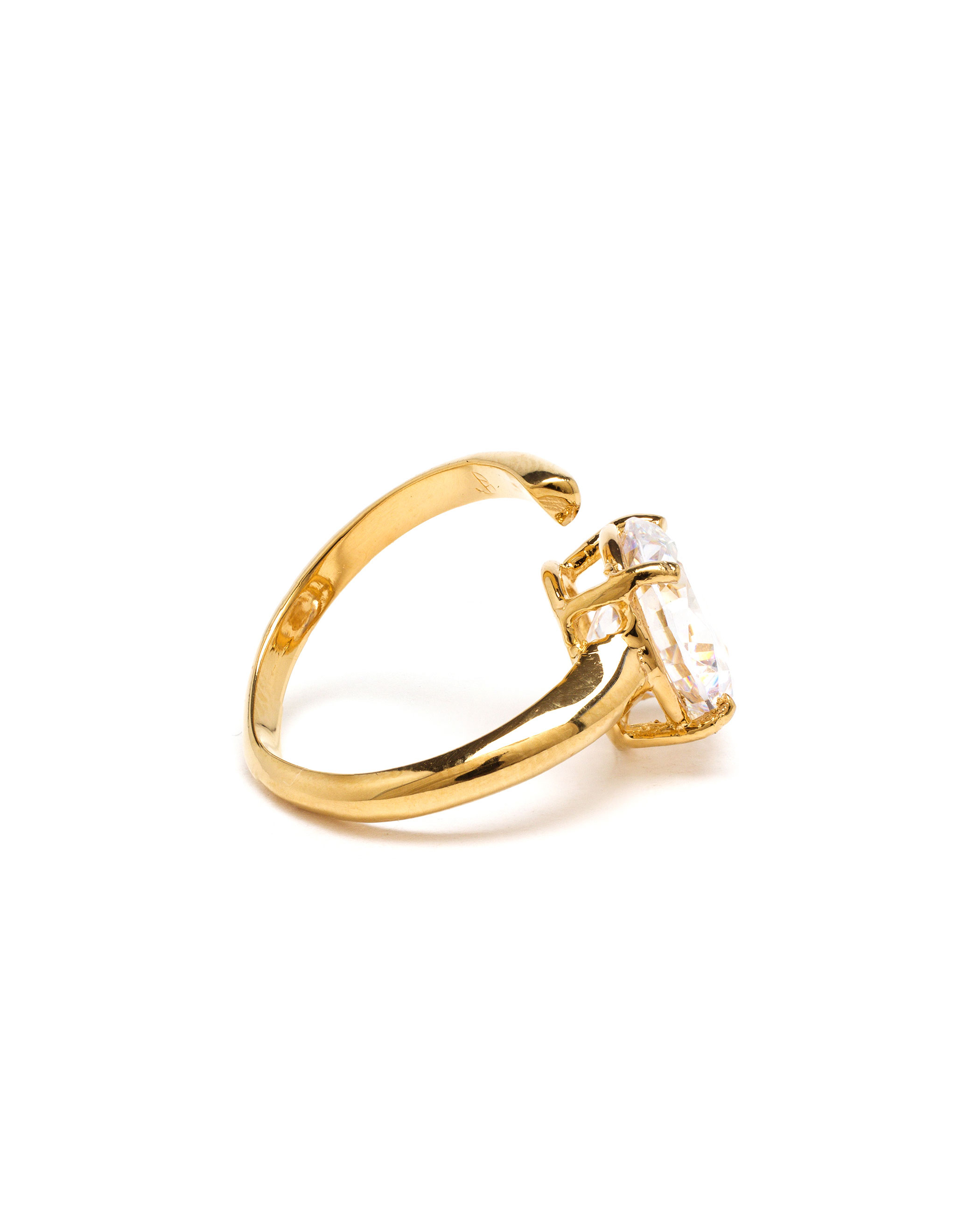 bijules 18k yellow gold cocktail midi ring in