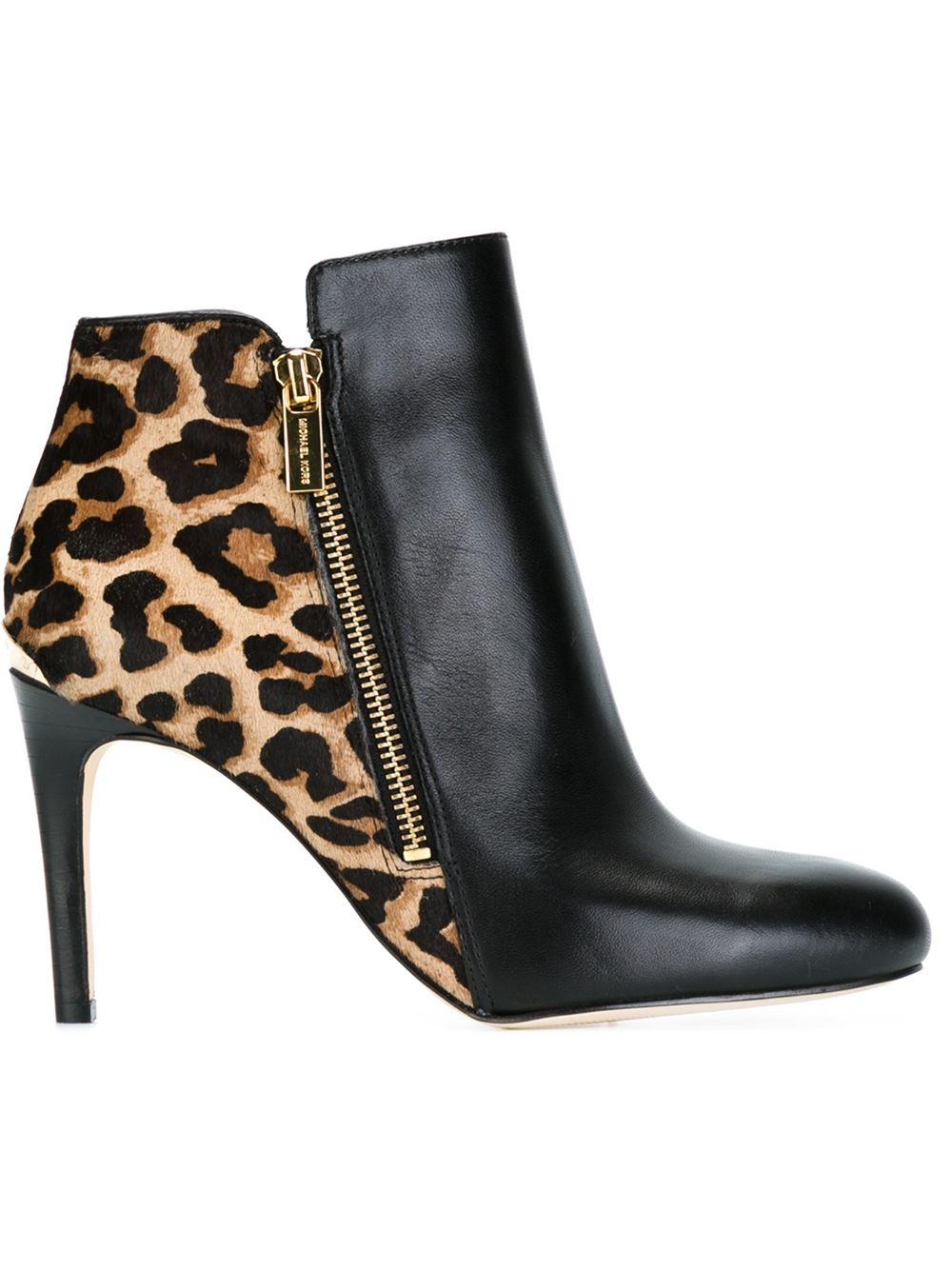 michael kors leopard booties