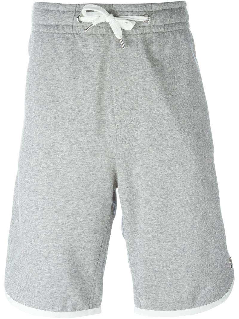 b9cc013479ed Lyst - Moncler Drawstring Sweat Shorts in Gray for Men