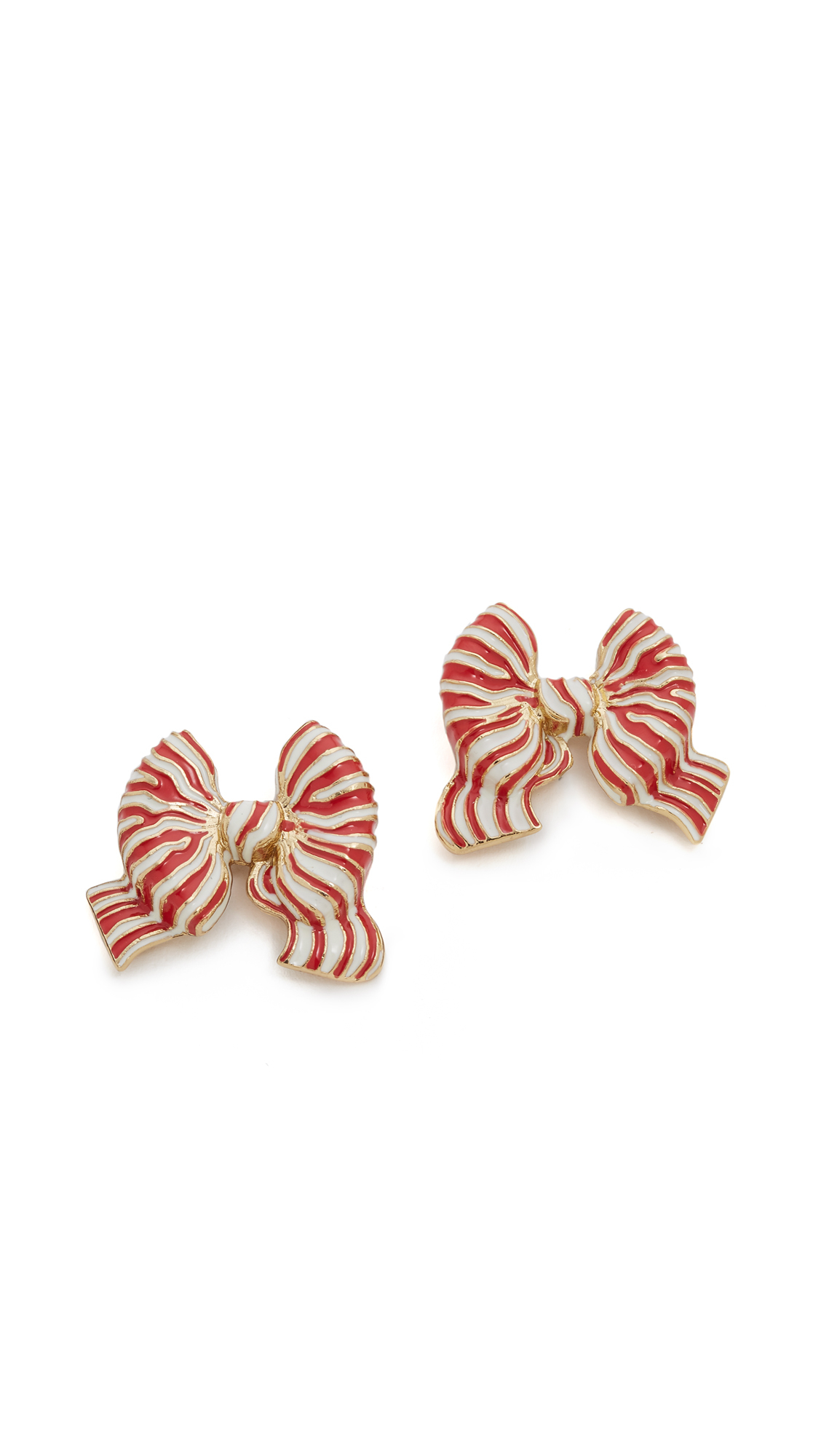 Lyst - Kate Spade New York Out Of The Loop Bow Statement Studs ...