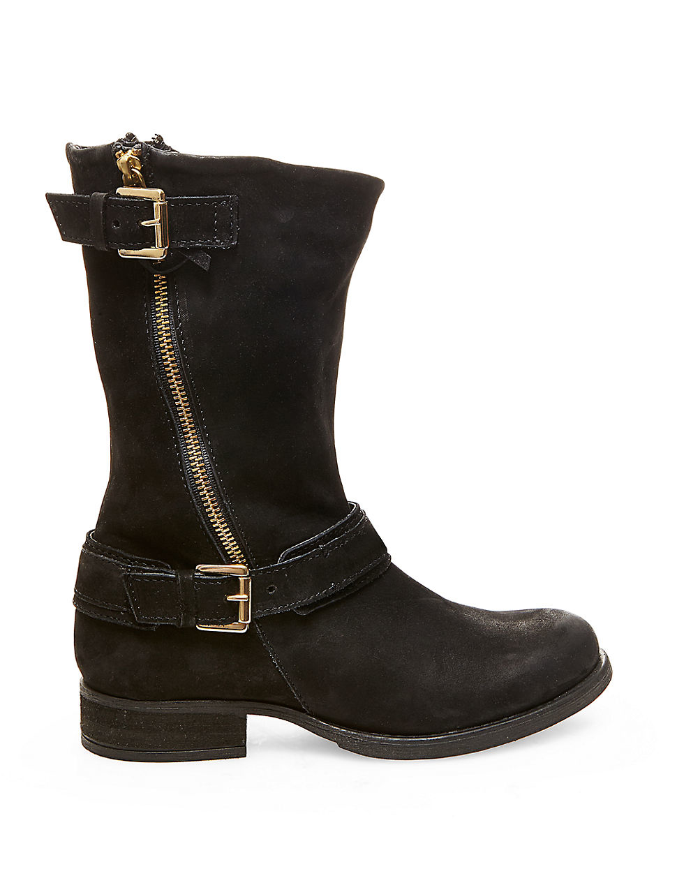 steve madden kavilier leather boots in black lyst