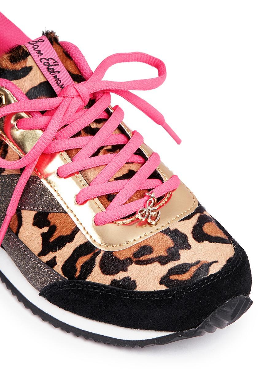 7254fe36 Sam Edelman 'Dax' Junior Leopard Print Sneakers - Lyst