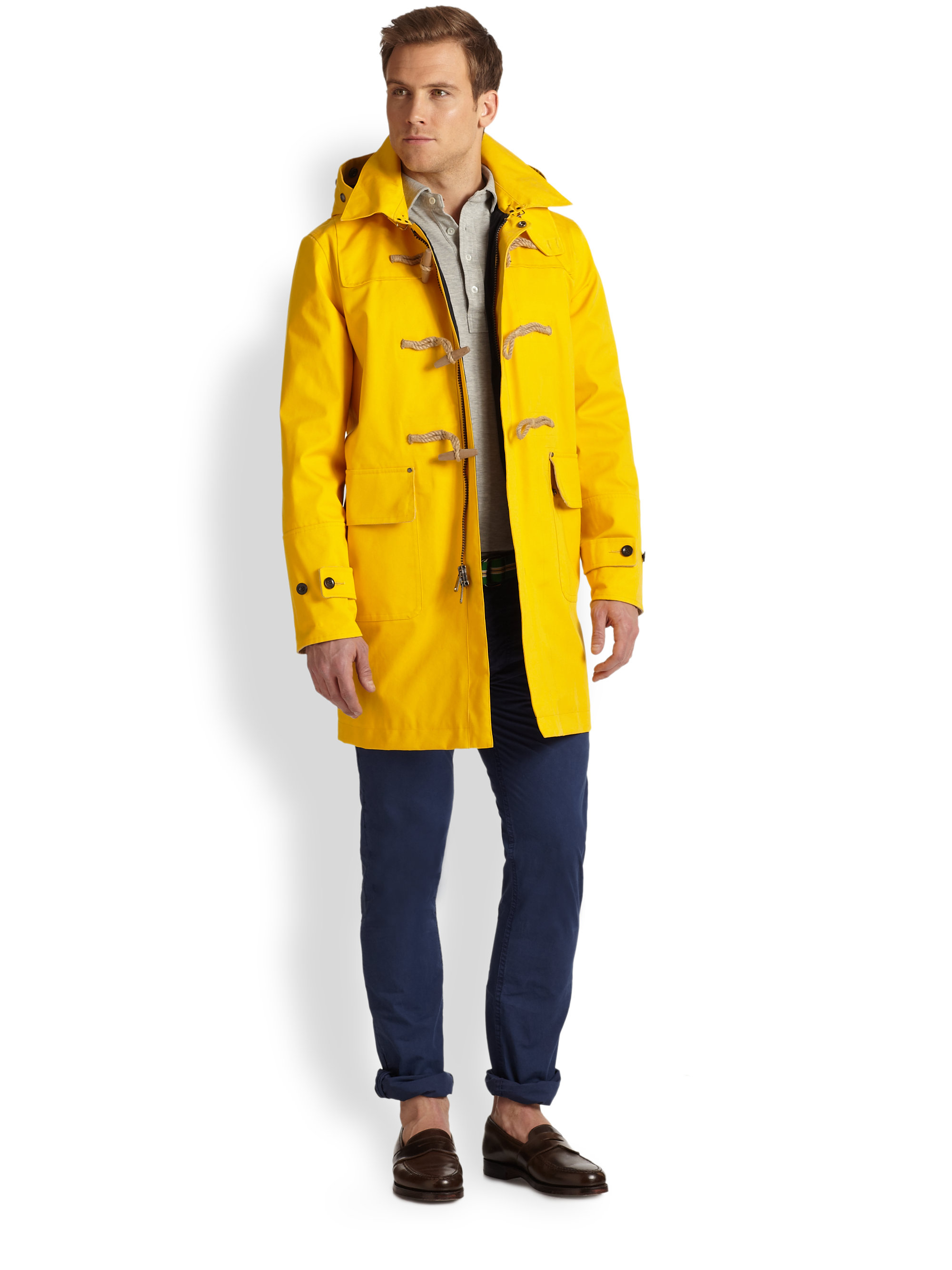 Polo ralph lauren Rlx Toggle Coat in Yellow for Men | Lyst