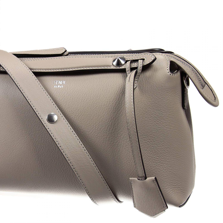 Lyst - Fendi Handbag By The Way Bauletto Leather in Gray 02f5c2e69763b