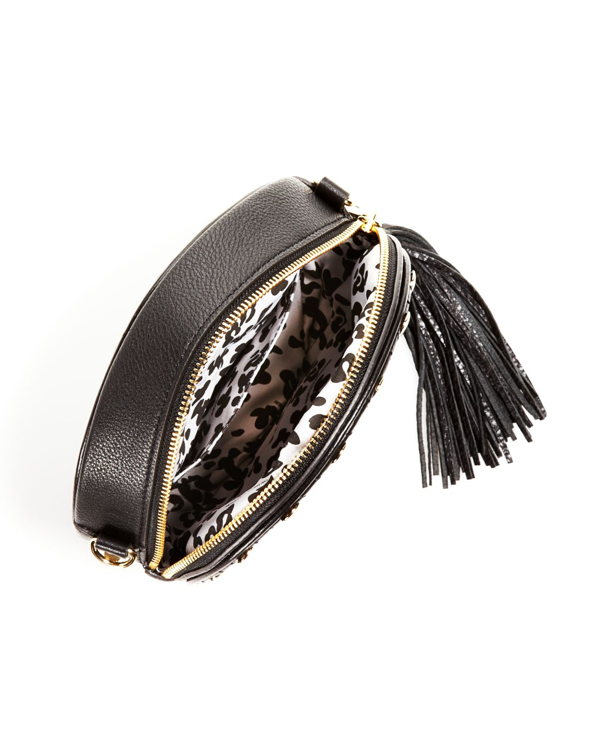 Rebecca Minkoff Crossbody - Bloomingdale'S Exclusive Bianca Studded Fringe in Black