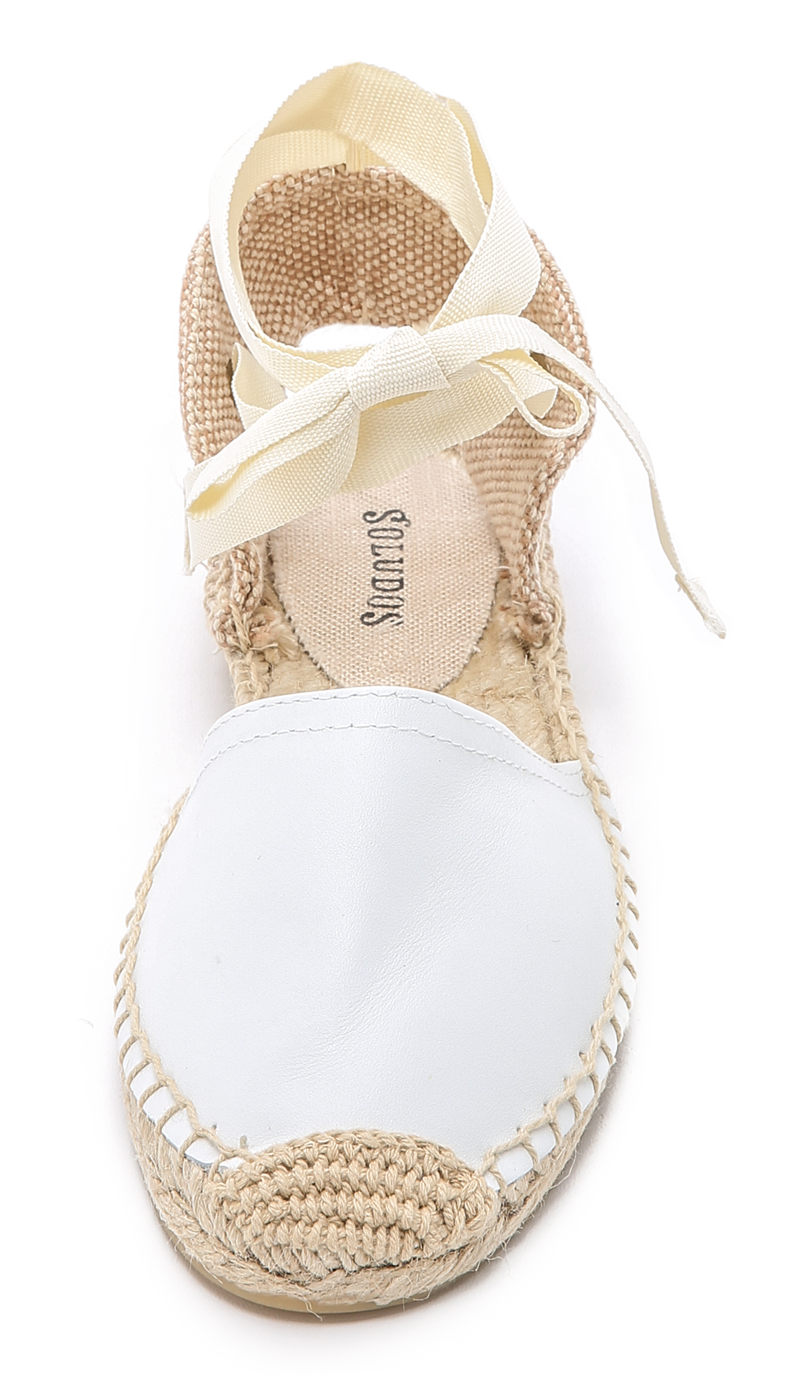 Lyst Soludos Leather Espadrille Sandals In White