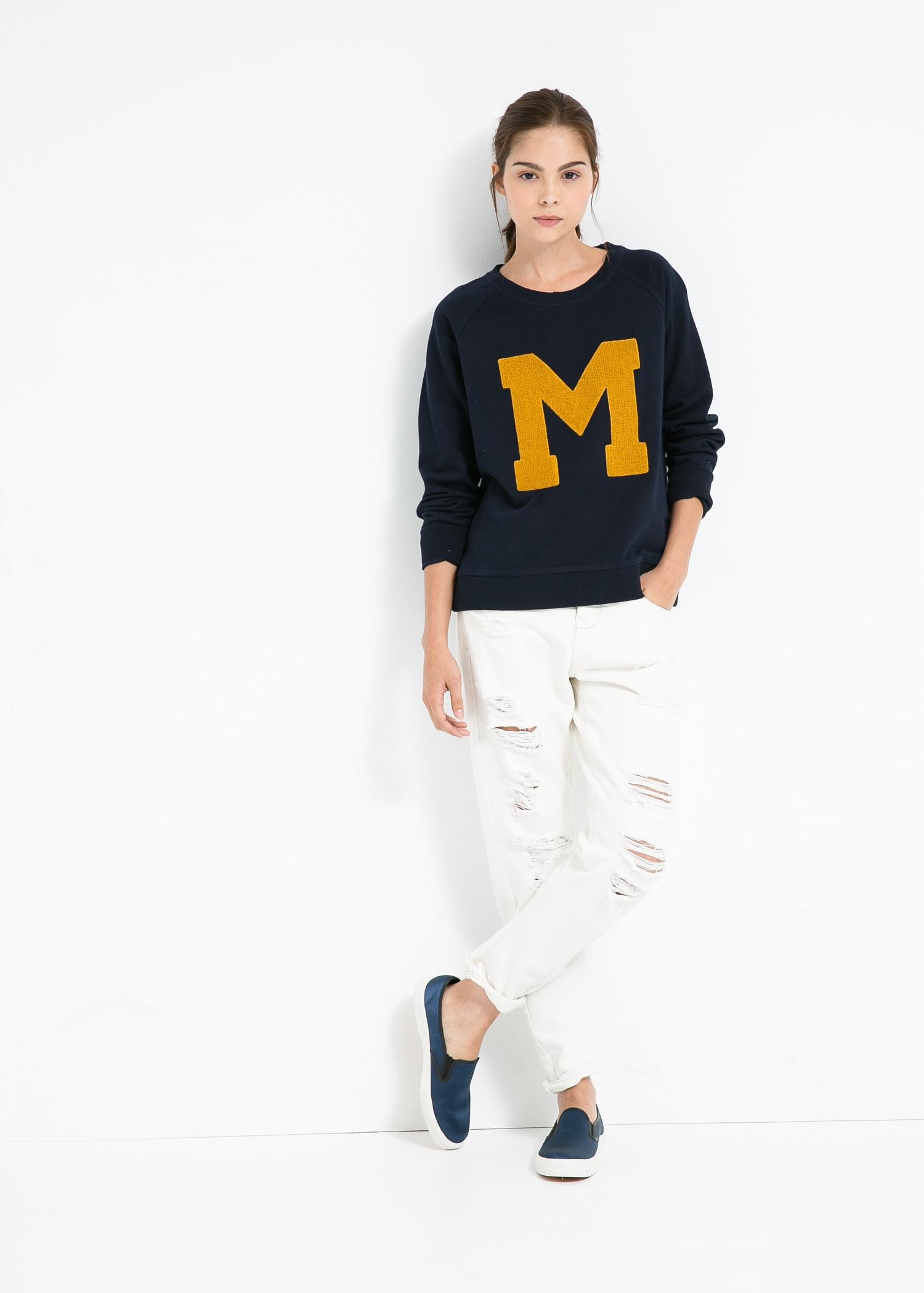 bfab58af5 Mango M Sweatshirt in Blue - Lyst