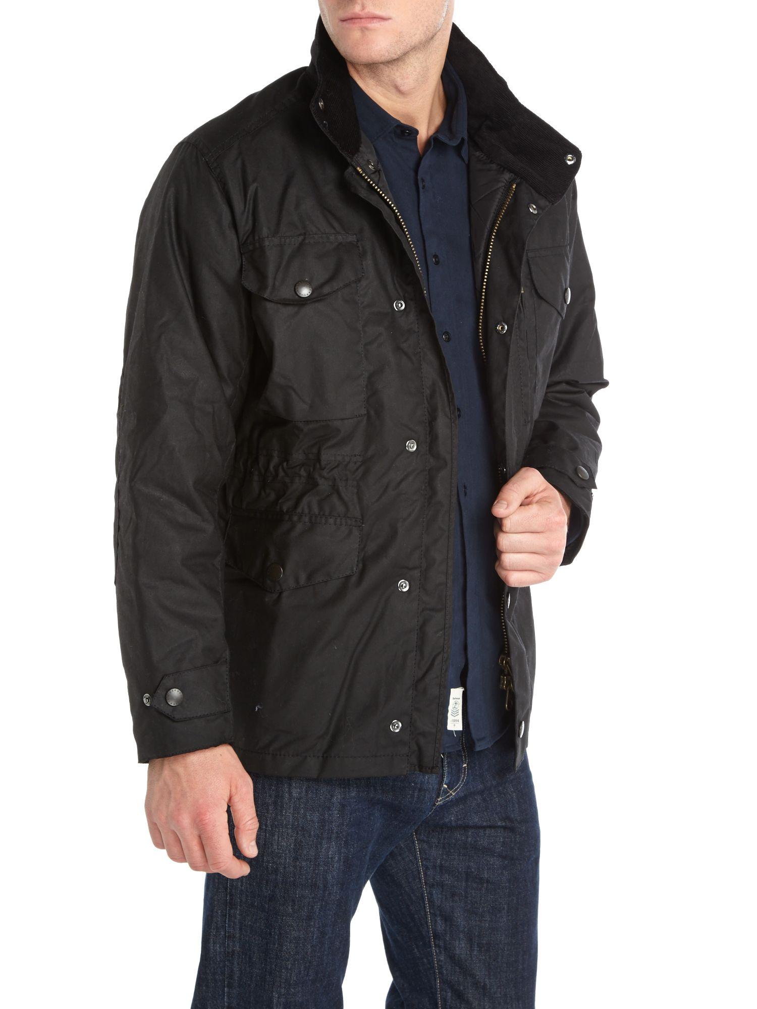 Barbour Sapper Jacket >> Barbour Cotton Wax Sapper Jacket in Black for Men - Lyst