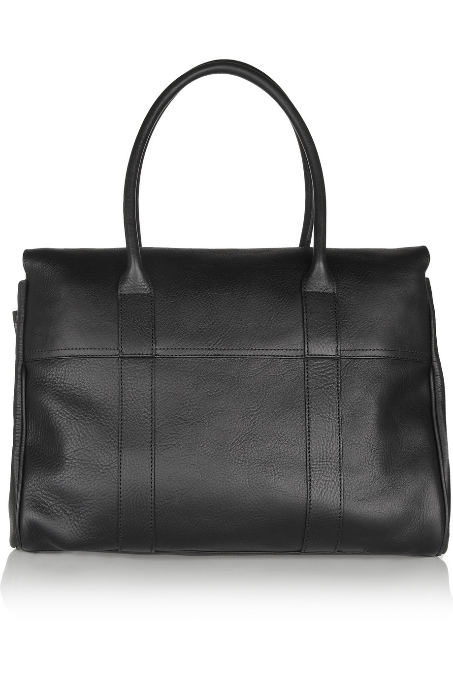 Mulberry the bayswater textured leather bag in black lyst for The bayswater