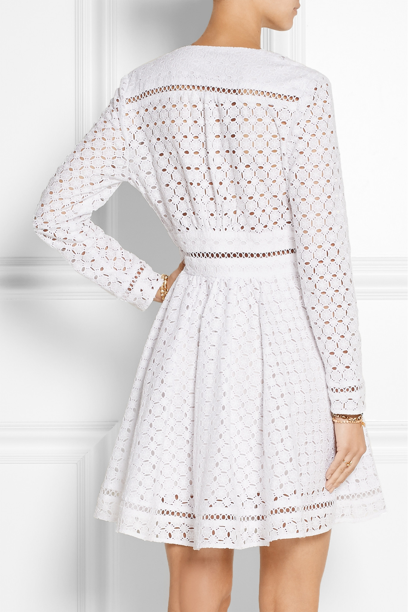 Zimmermann Ryker Broderie Anglaise Cotton Dress In White