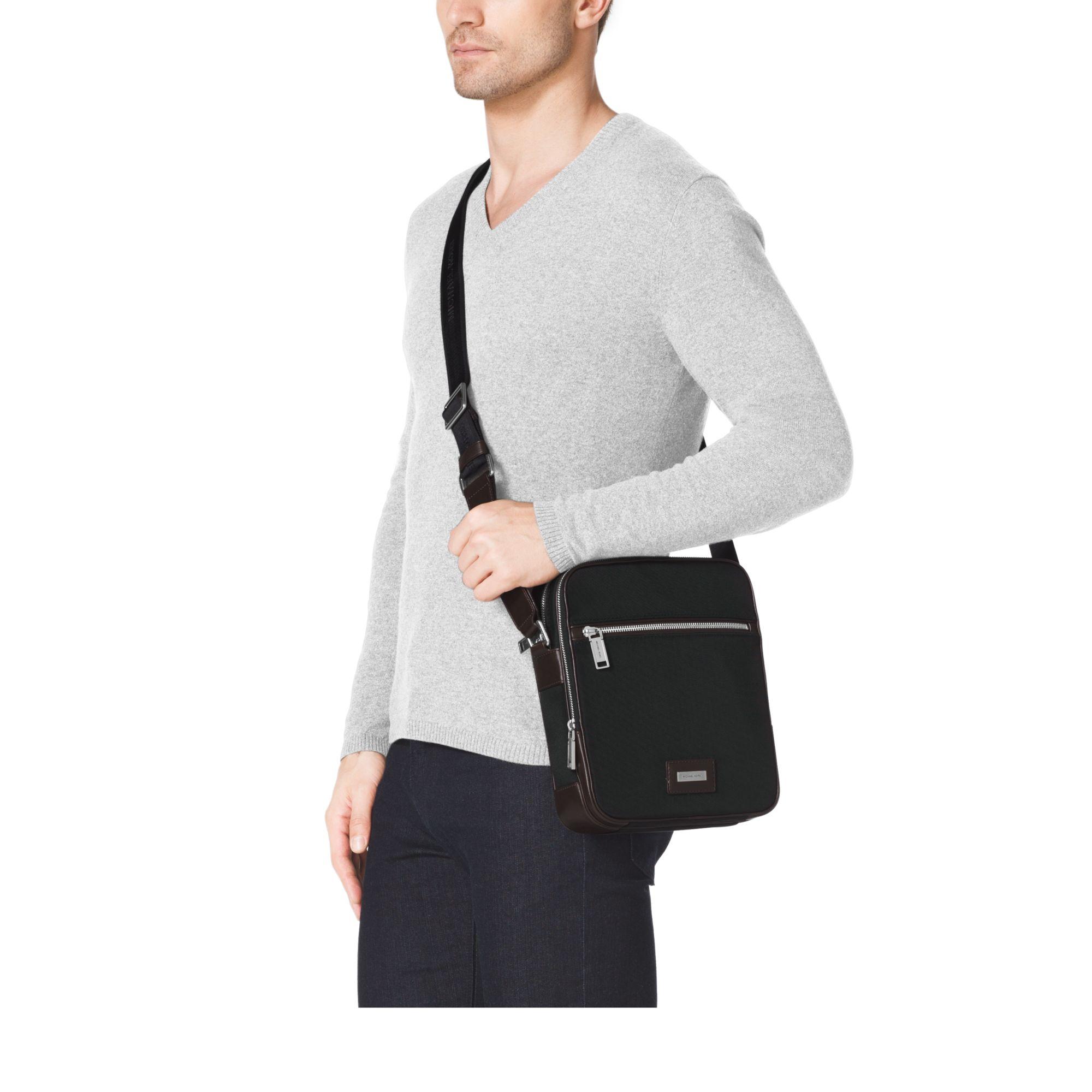 0c74671f42d5 Michael Kors Windsor Nylon Crossbody Bag in Black for Men - Lyst