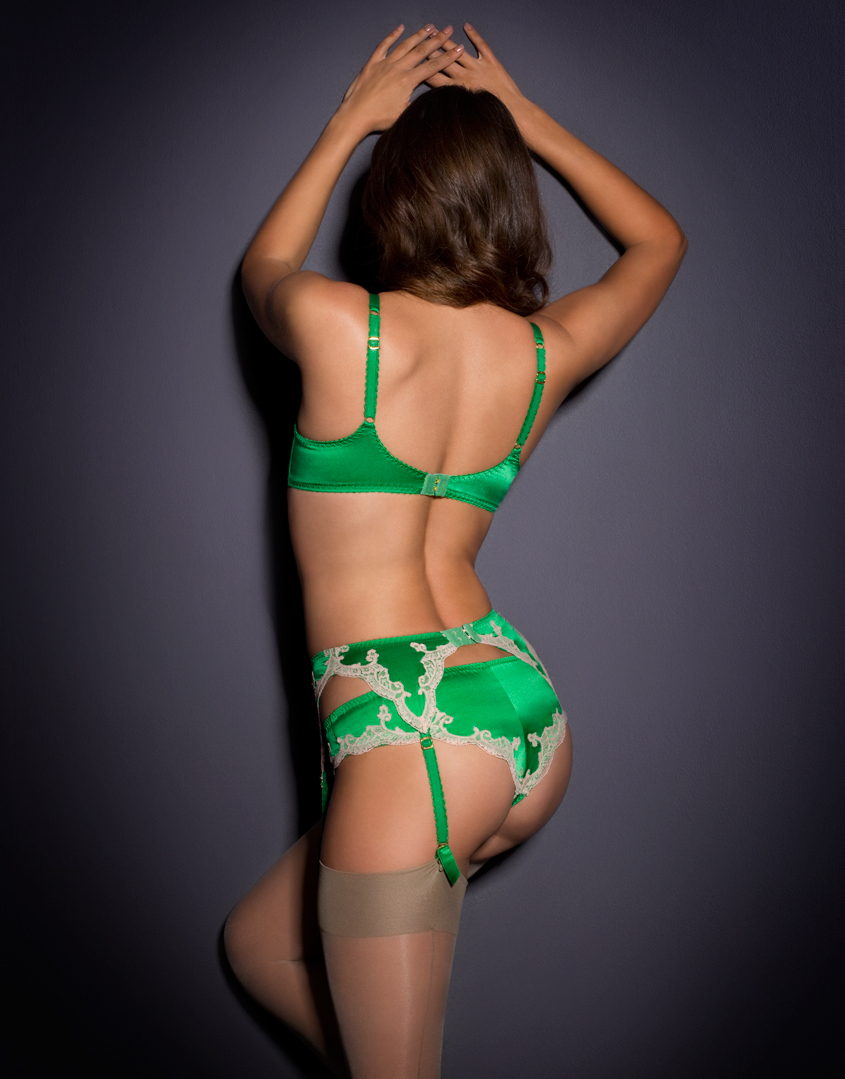 Lyst - Agent Provocateur Molly Suspender Green in Green 6c0d3ef79