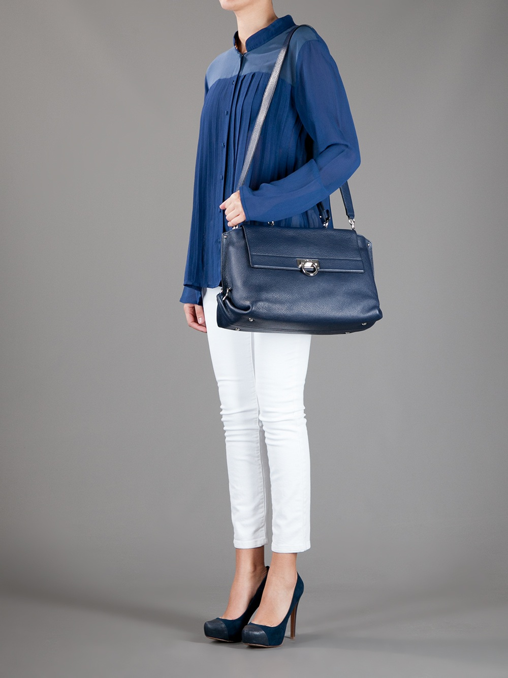 Lyst - Ferragamo Sofia Bag in Blue 9b087cc29ed8c