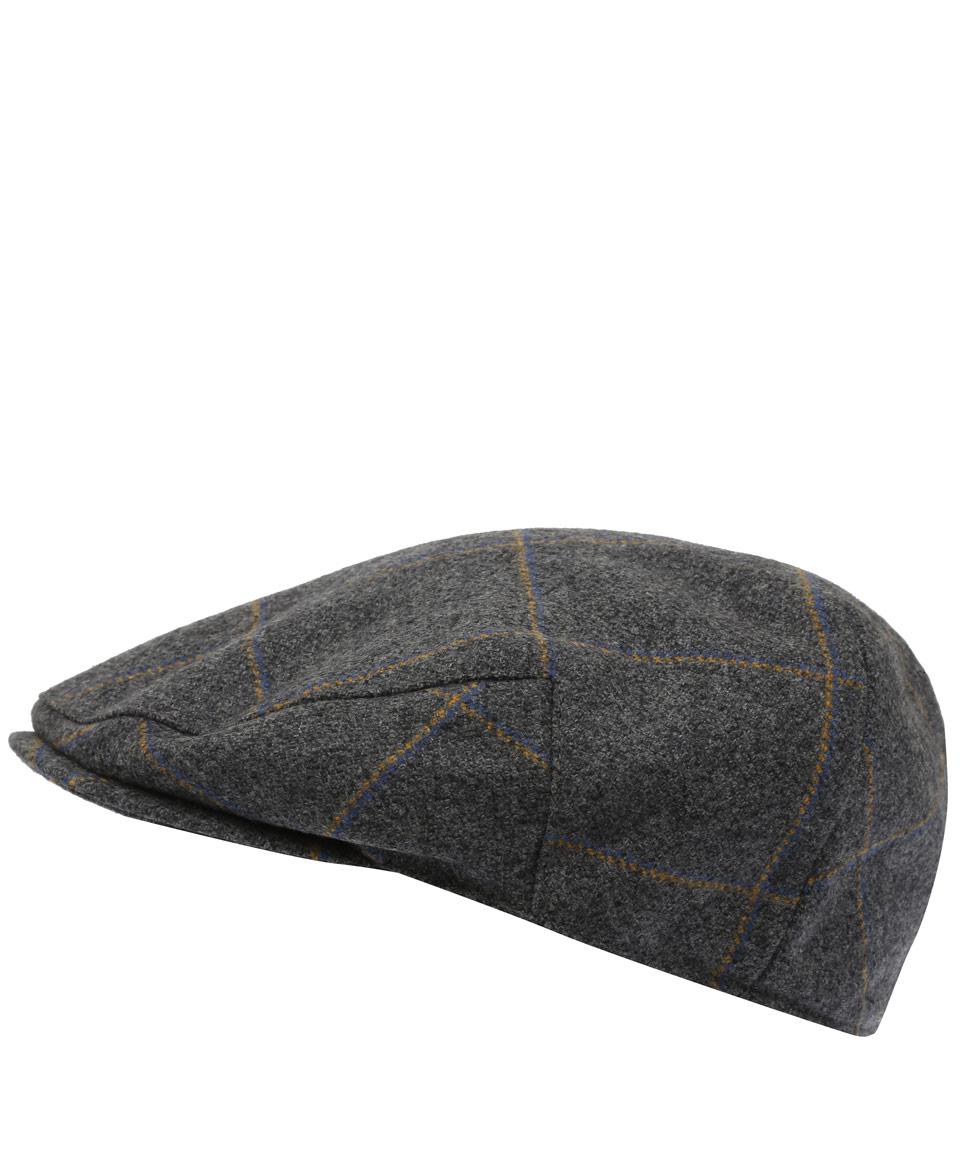 Lyst - Christys  Grey Check Wool Flat Cap in Gray for Men ecc265d02f6