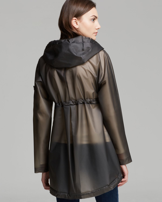 Hunter Raincoat Original Clear Smock In Gray Lyst