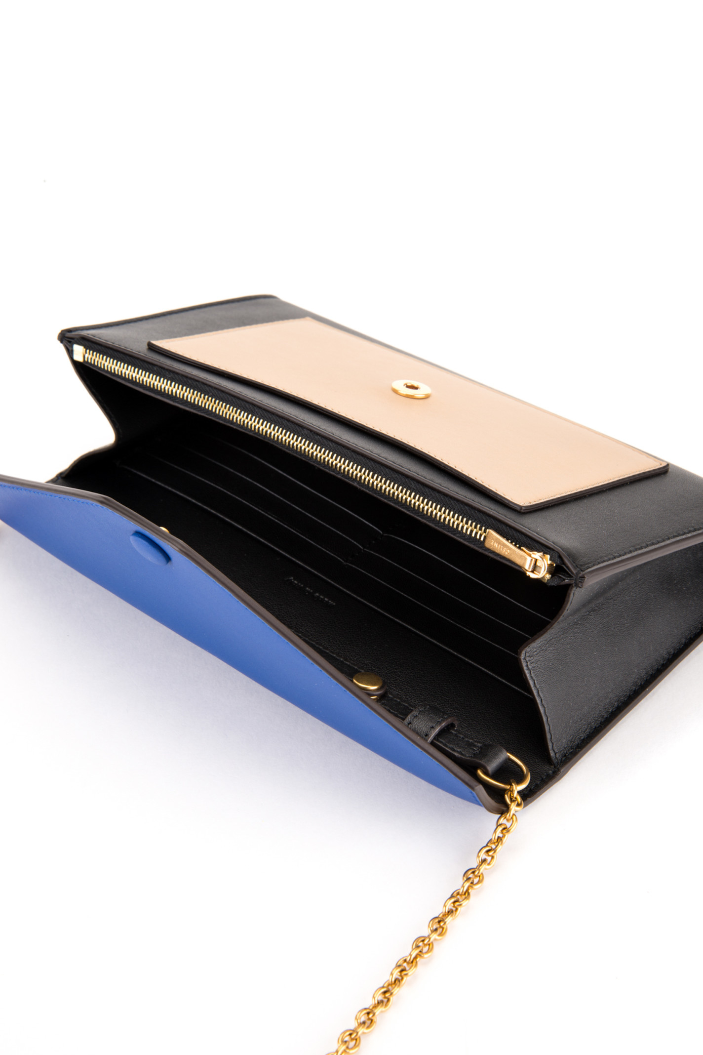 C¨¦line Large Flap Bag With Chain in Blue (COBALT) | Lyst