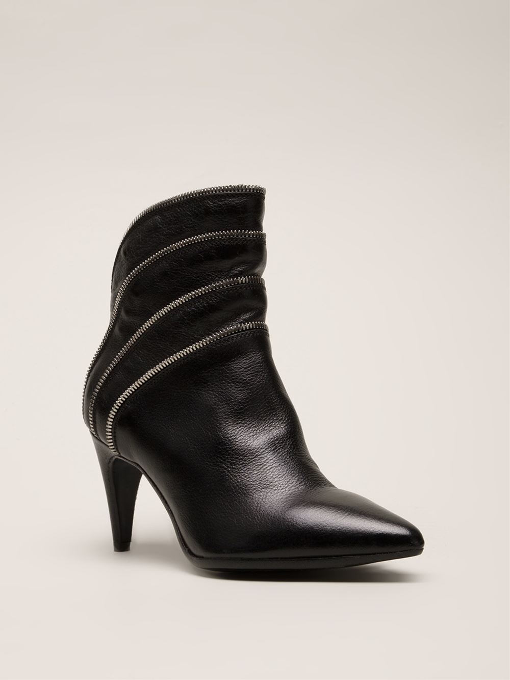 Lyst Officine Creative Rivette Boots In Black