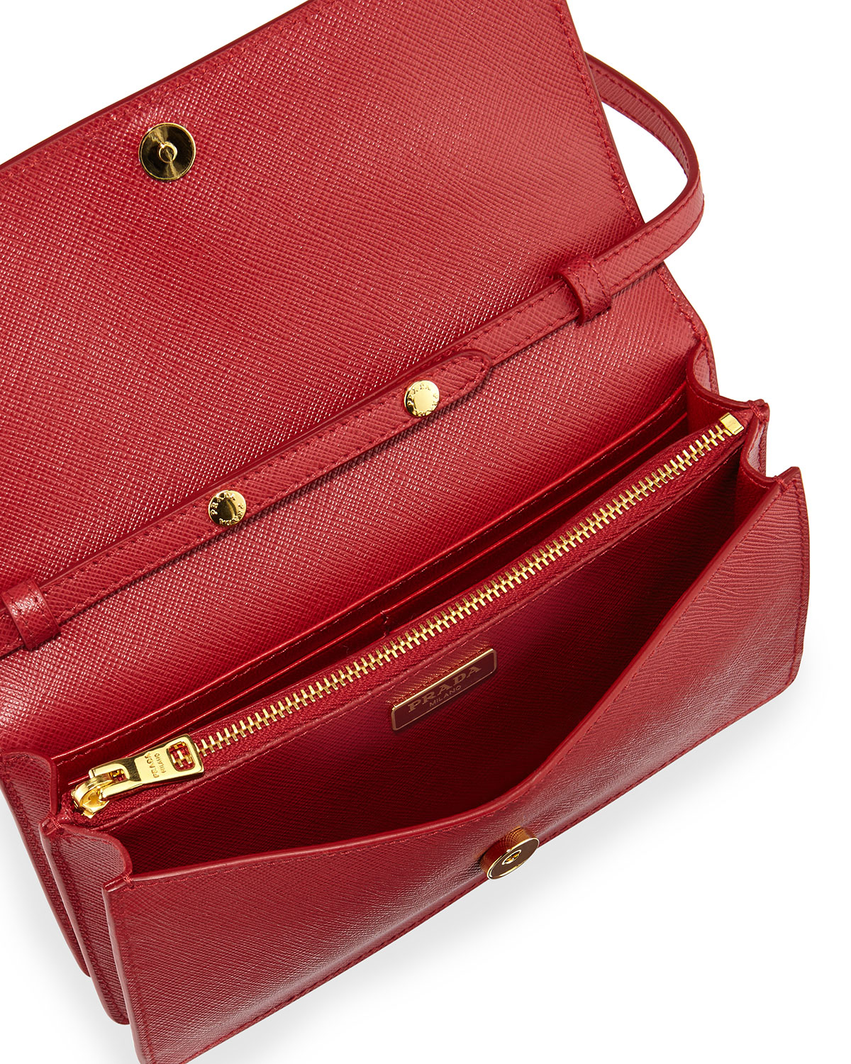 26c74ef13f56 ... where can i buy lyst prada wallet on a chain velvet shoulder bag in red  cd0bc
