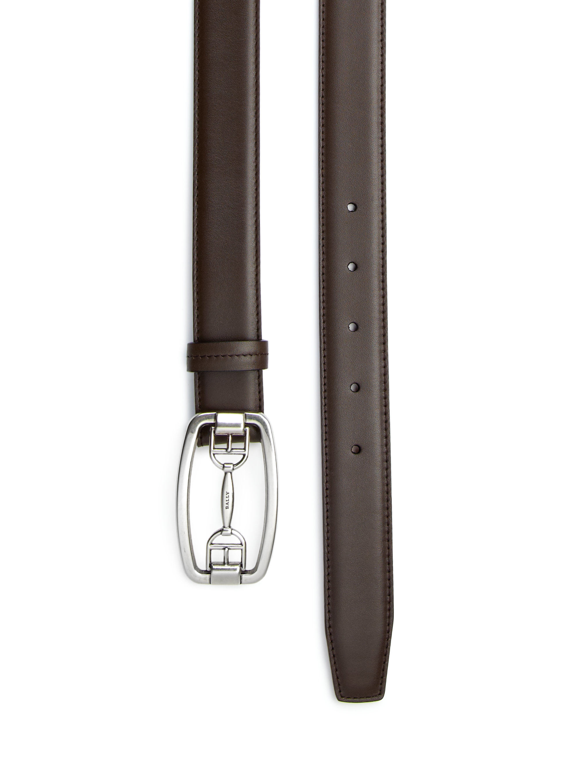 Bally Cornell Leather Bit Dress Belt In Brown For Men Lyst