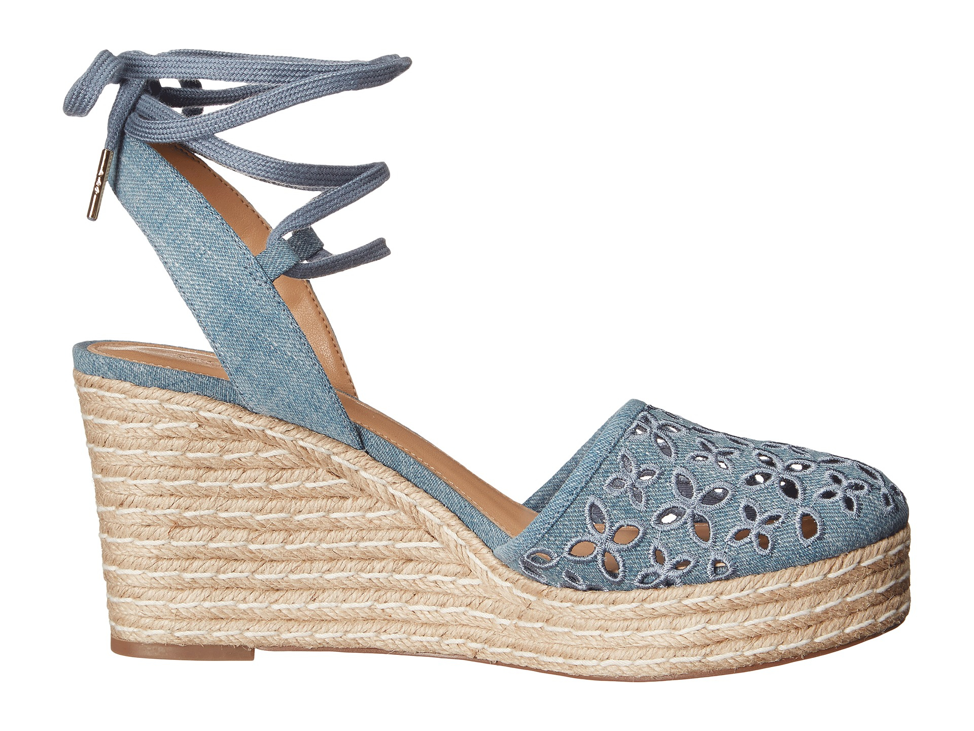 Lyst Michael Michael Kors Darci Closed Toe Wedge In Blue