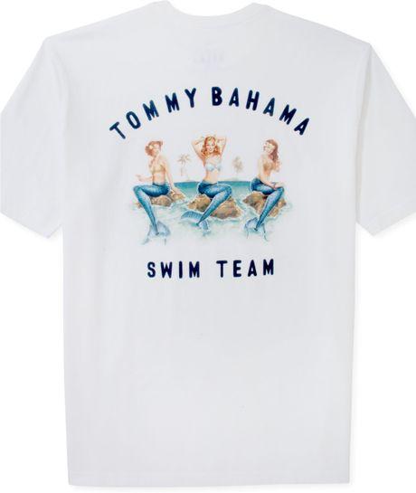 Tommy bahama swim team tshirt in white for men lyst for Custom tommy bahama shirts