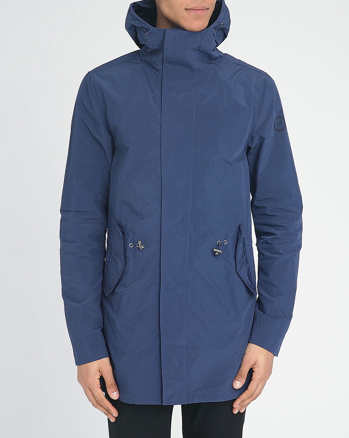 scotch soda blue technical nylon parka in blue for men. Black Bedroom Furniture Sets. Home Design Ideas