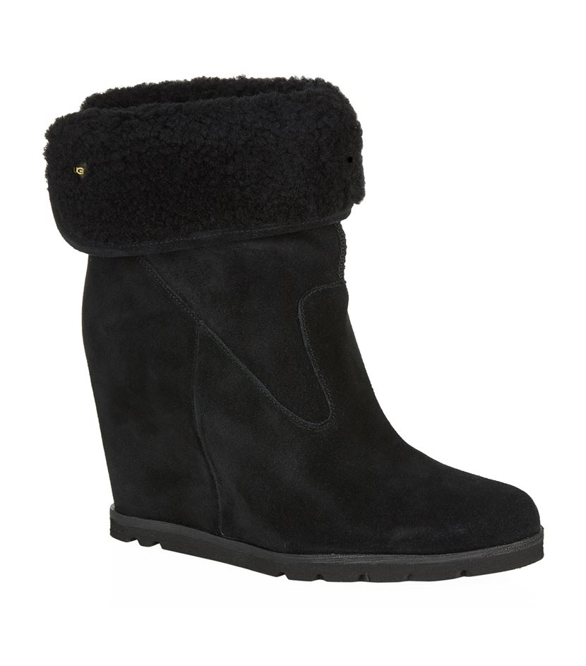 Ugg Kyra Wedge Boot In Black Lyst