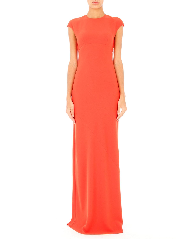 T by alexander wang Open-back Maxi Dress in Orange - Lyst