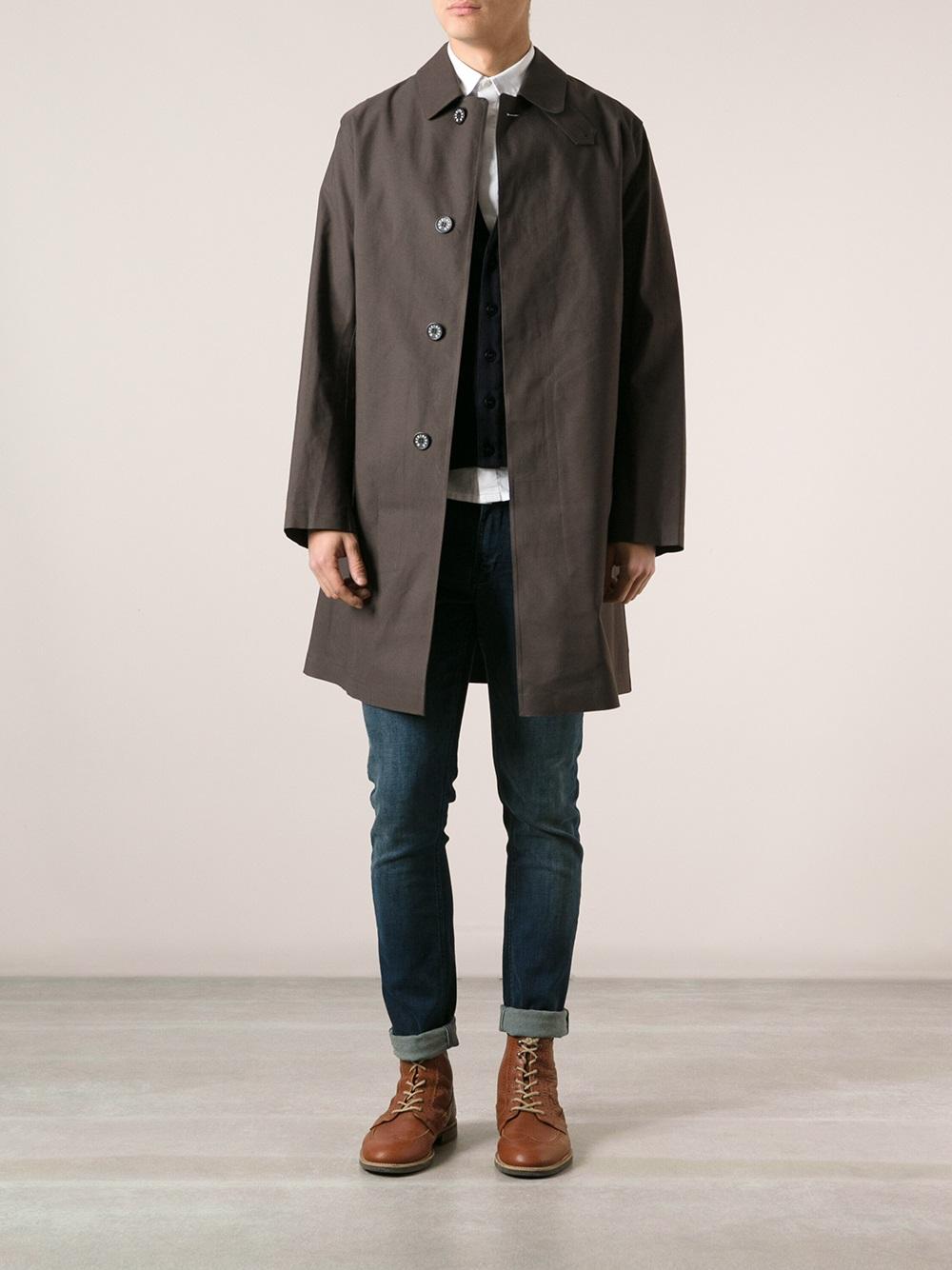 Mackintosh 'dunkeld' Trenchcoat in Brown for Men | Lyst