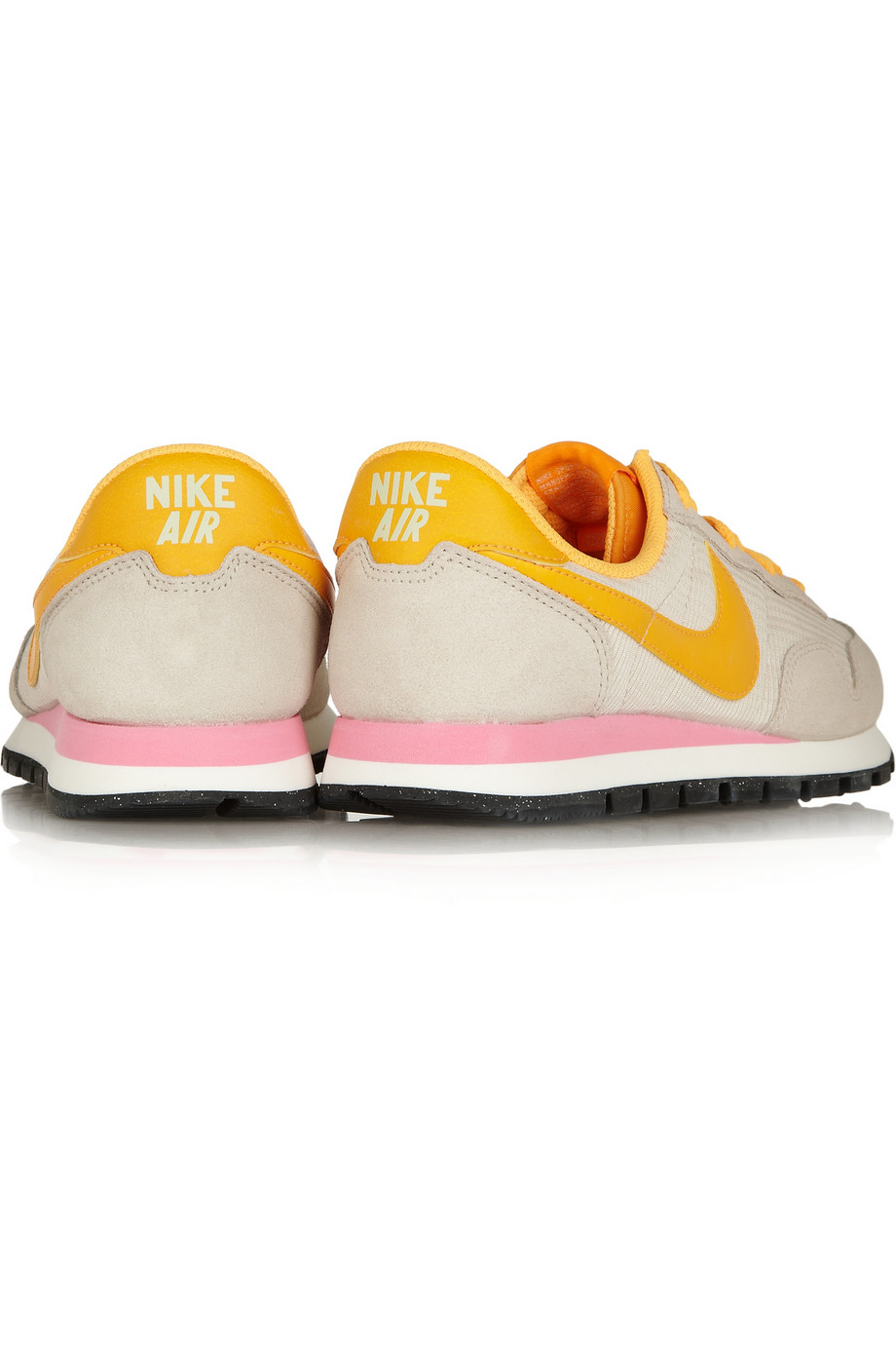 Nike Air Pegasus 83 Leather, Suede And Mesh Sneakers in Orange