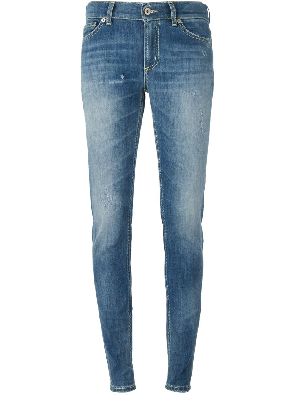 Dondup Faded Skinny Jeans In Blue Lyst