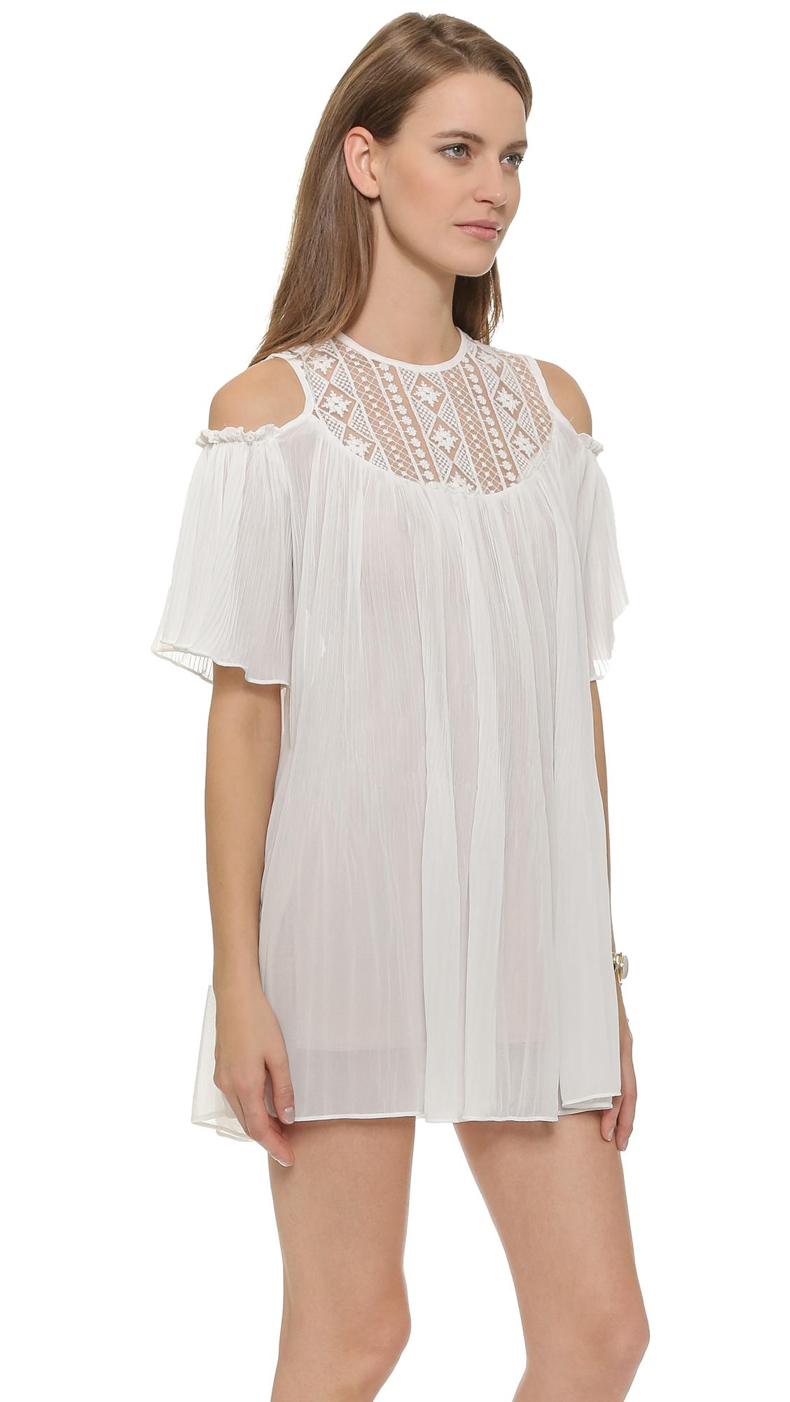 Raga Killing It Softly Tunic Dress - White in White | Lyst