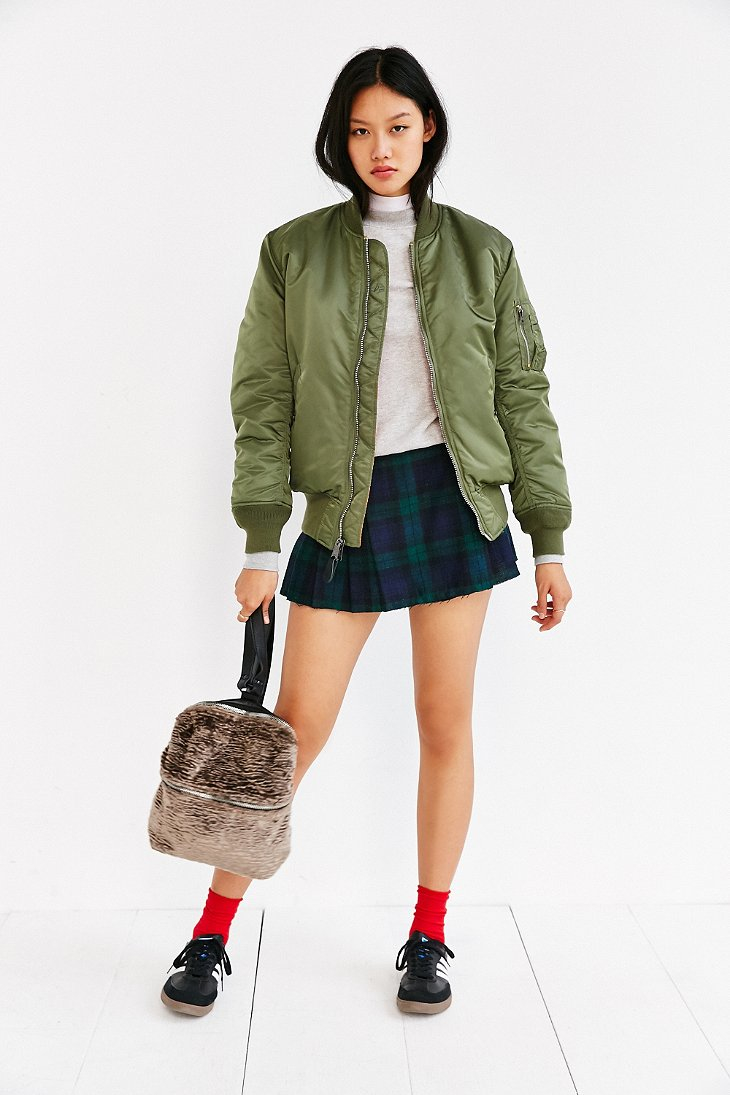 alpha industries ma 1 bomber jacket in green olive lyst. Black Bedroom Furniture Sets. Home Design Ideas