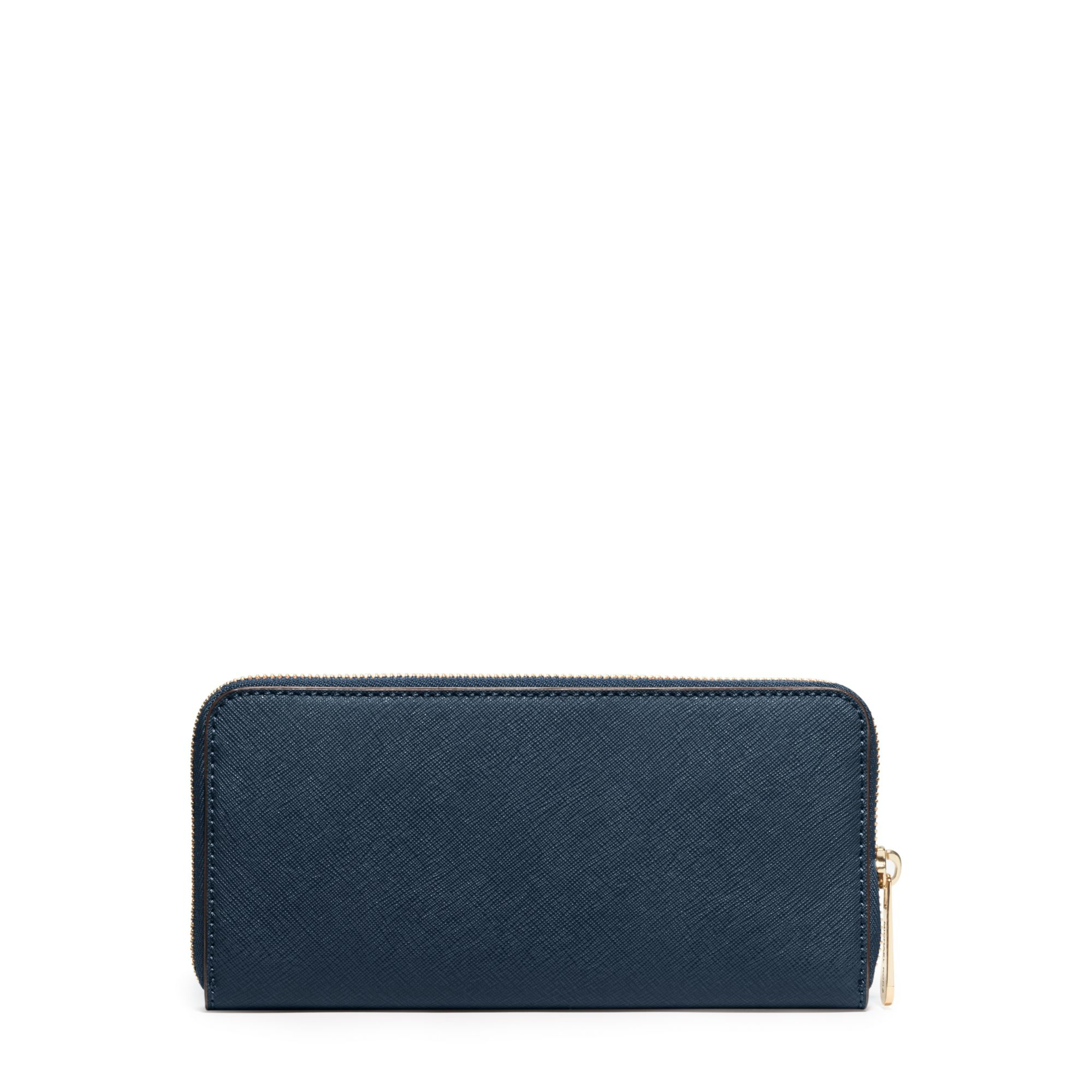 Michael Kors Jet Set Travel Saffiano Leather Continental Wallet In Blue For Men Lyst