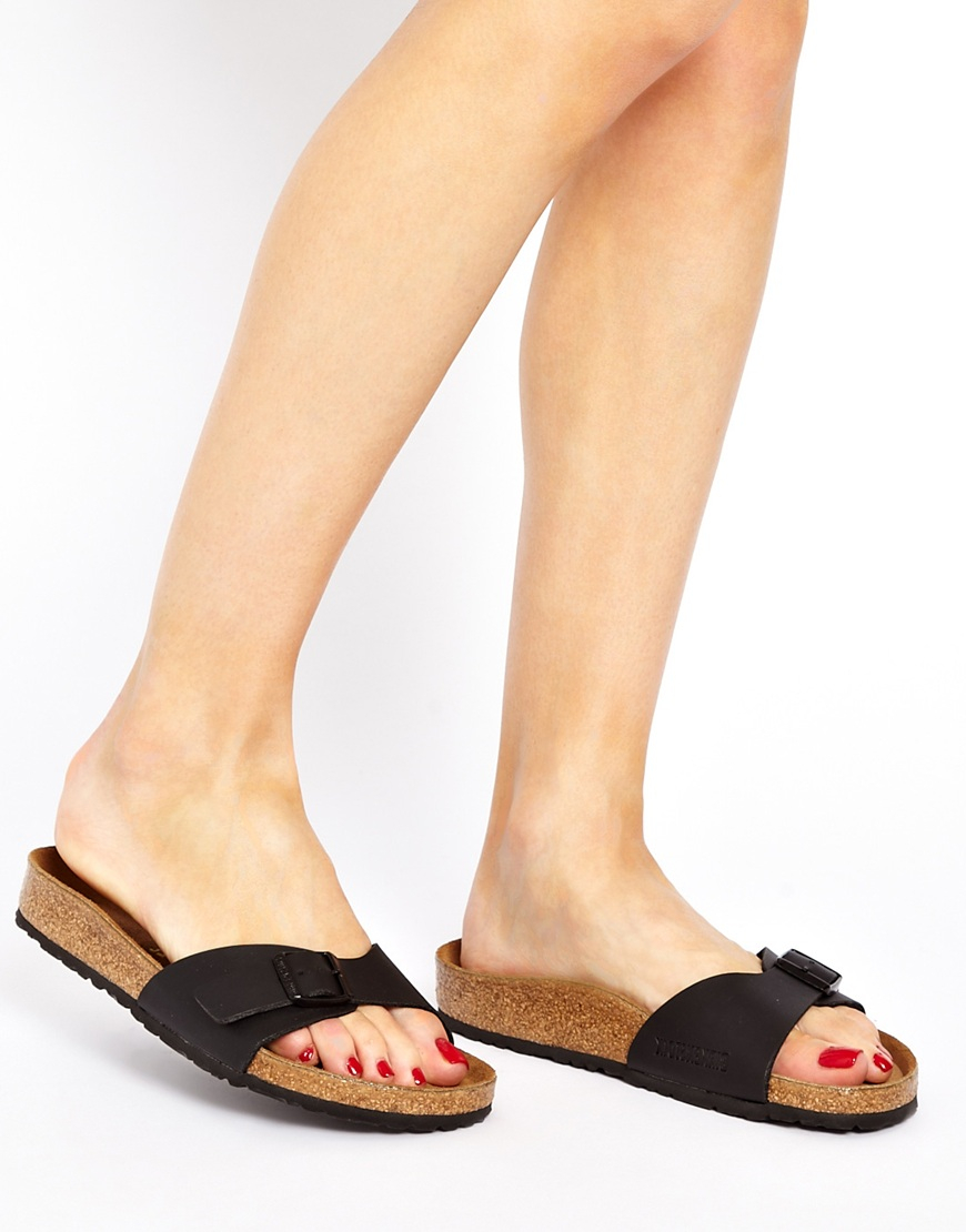 Birkenstock Black Madrid Flat Sandals In Blue Lyst