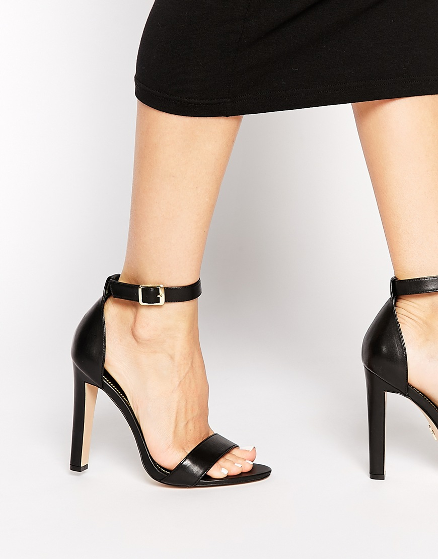 Buy Women Shoes / Windsor Smith Desiree Black Leather Barely There Heeled Sandals
